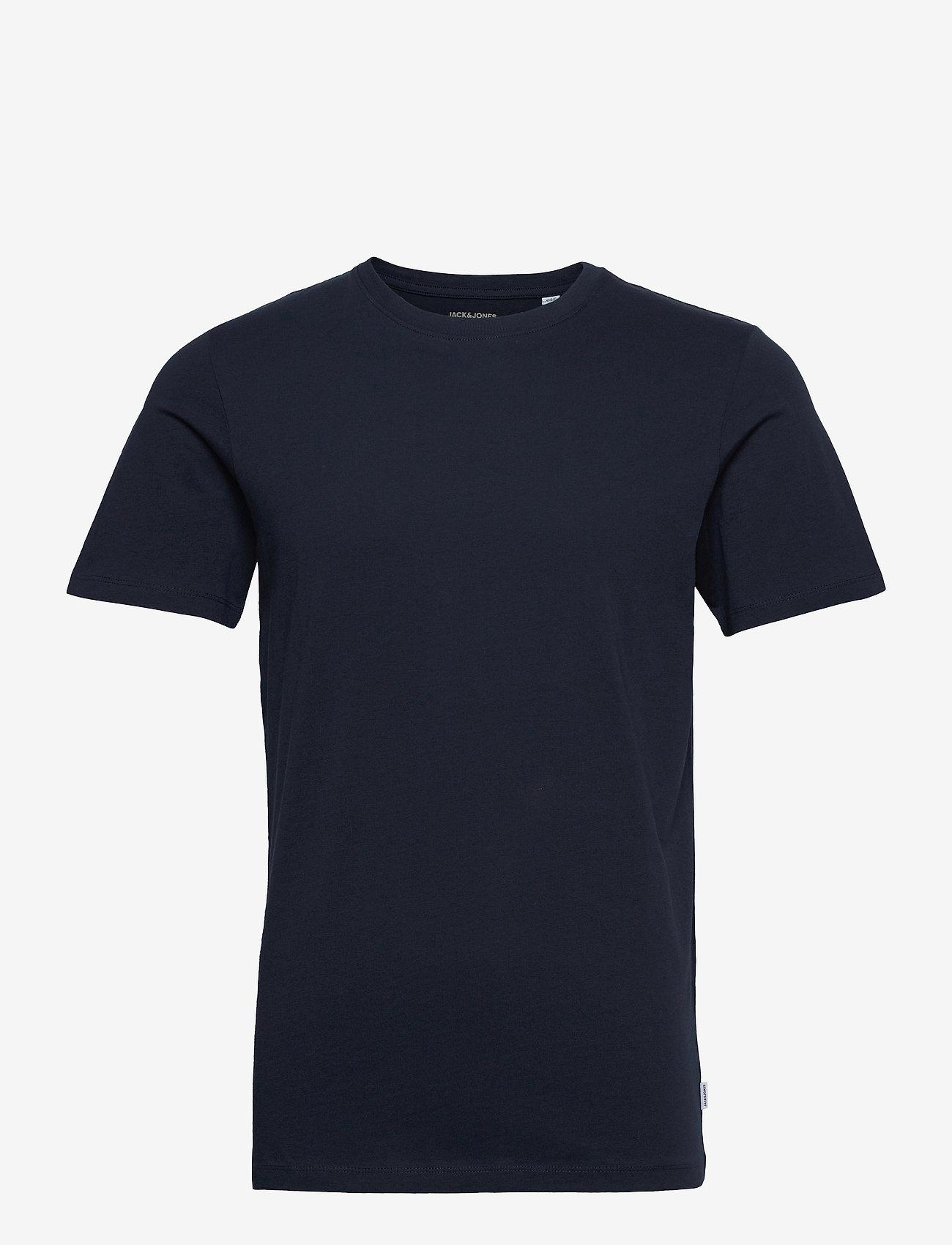 Jack & Jones - JJEORGANIC BASIC TEE SS O-NECK - basic t-shirts - navy blazer - 0
