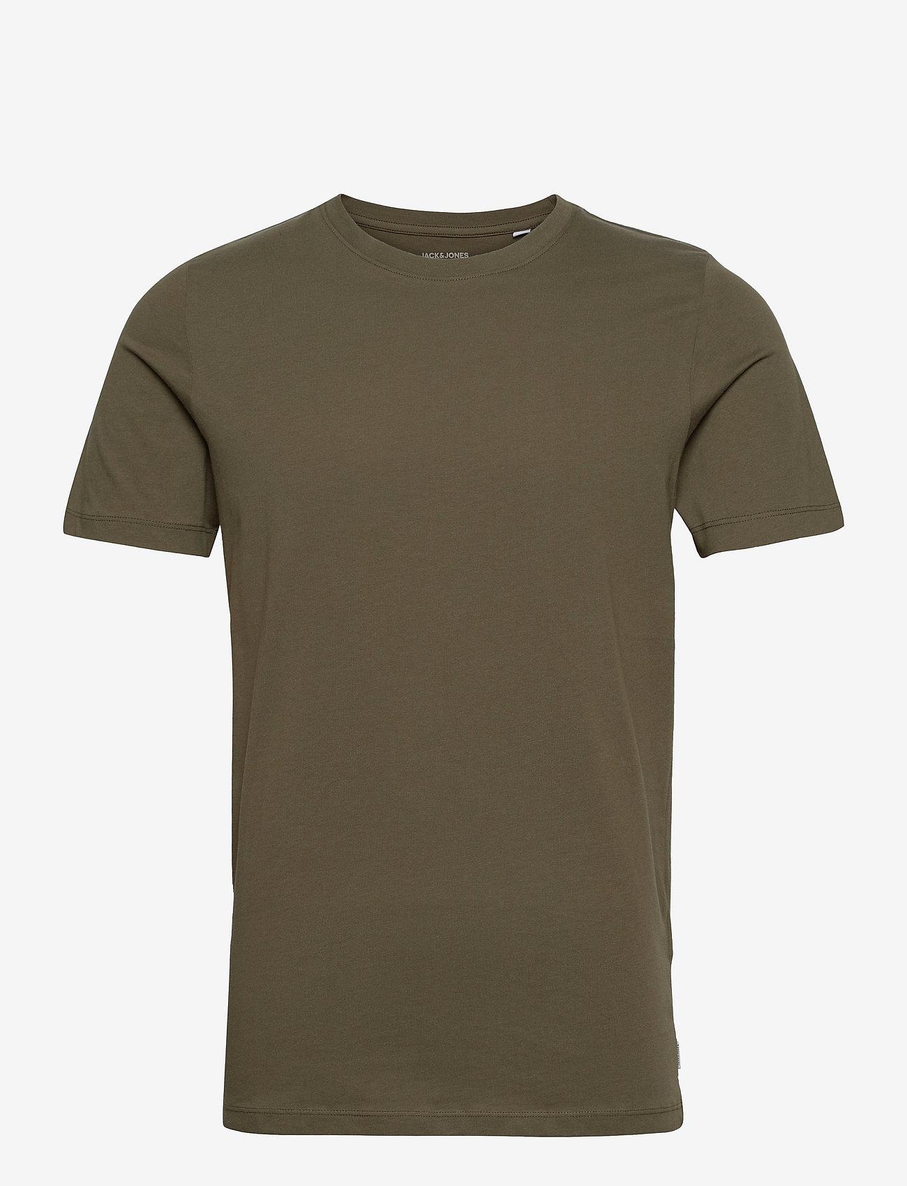 Jack & Jones - JJEORGANIC BASIC TEE SS O-NECK - basic t-shirts - olive night - 0