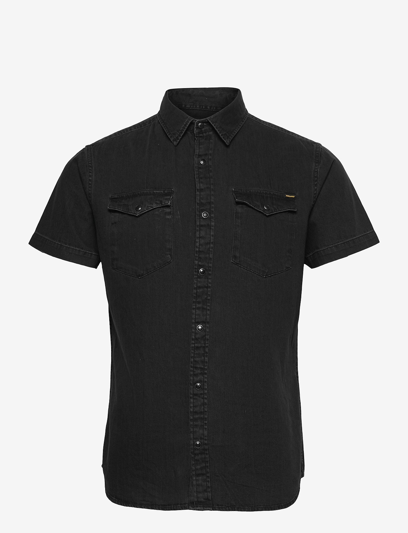 Jack & Jones - JJESHERIDAN SHIRT S/S SN - basic skjorter - black denim - 0