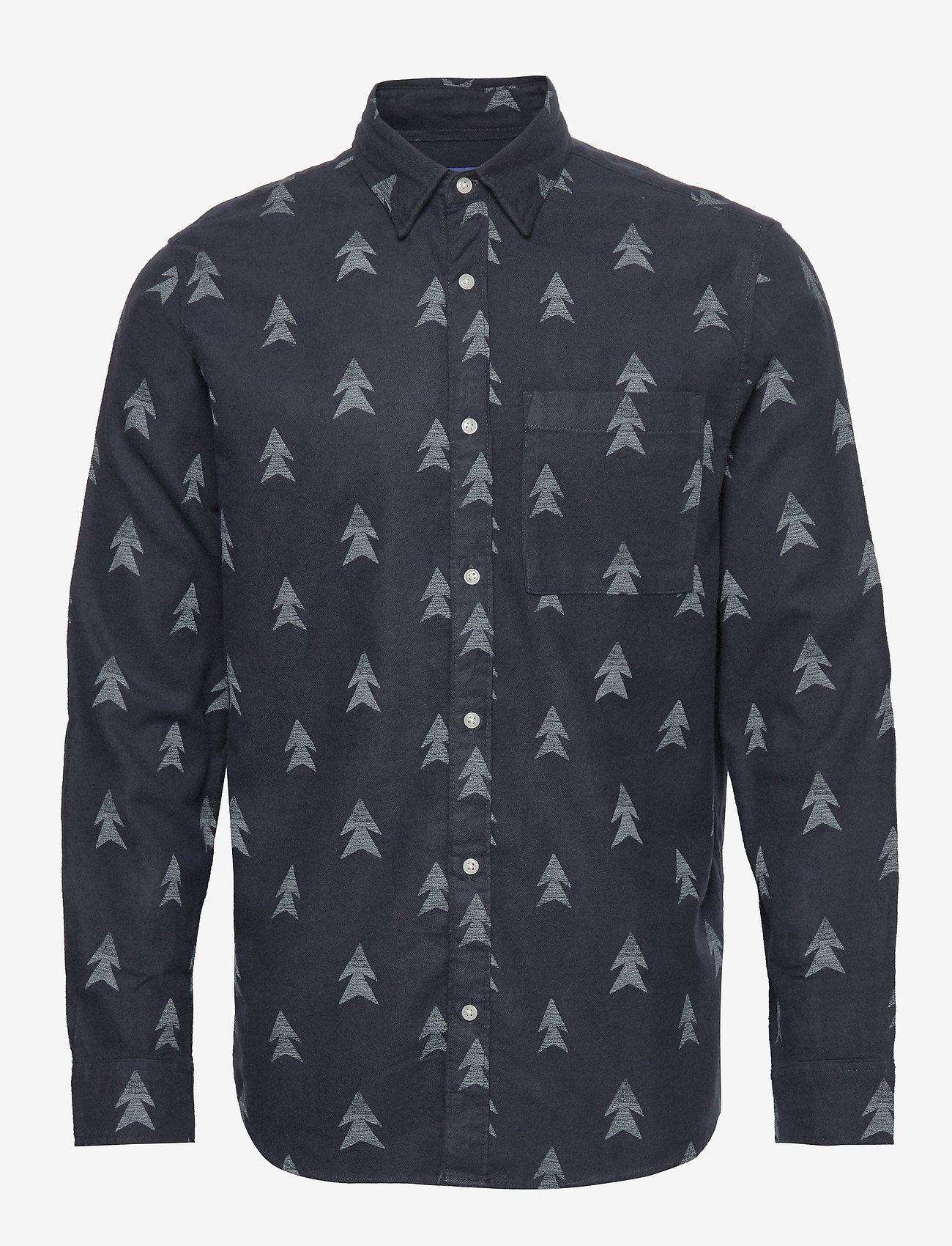 Jack & Jones - JORDREW SHIRT LS - casual skjortor - navy blazer - 0