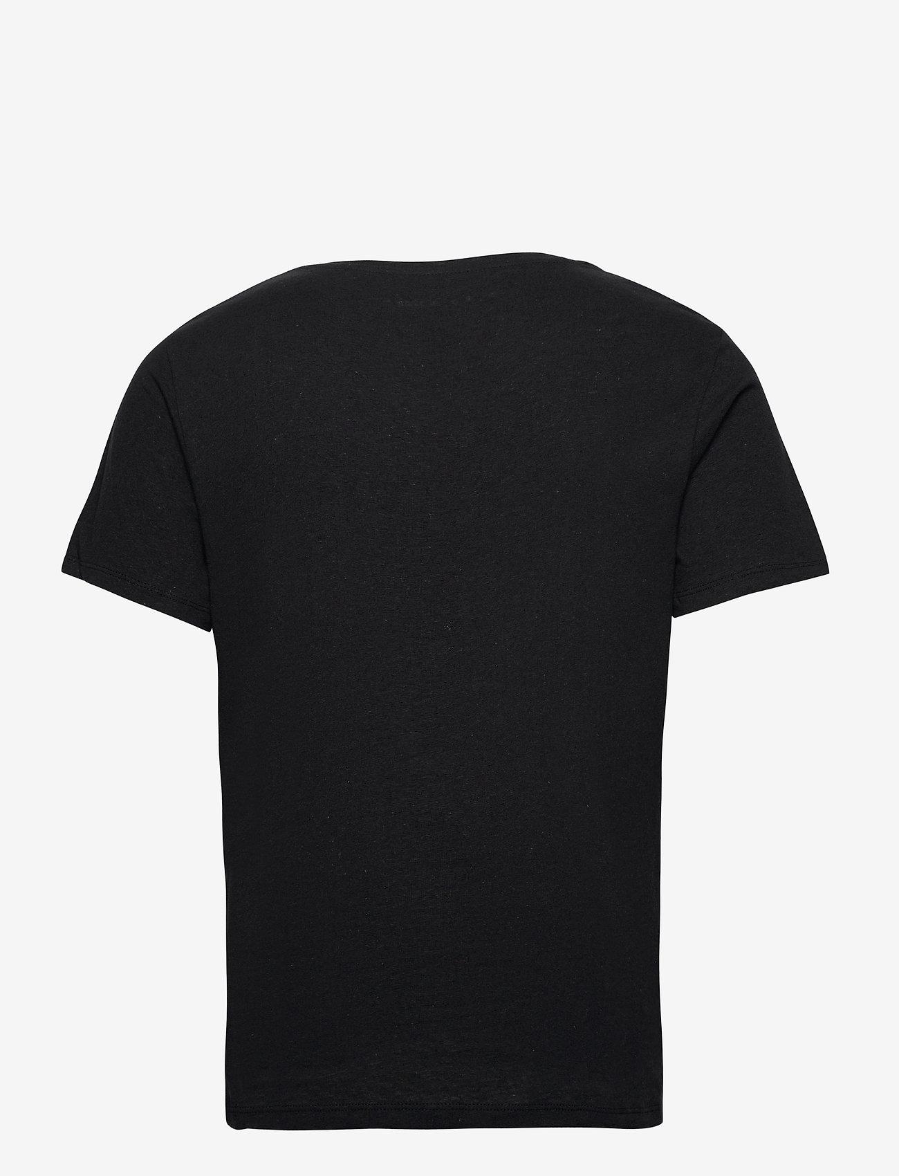 Jack & Jones - JJELINEN BASIC TEE SS CREW NECK STS - basic t-shirts - black - 1