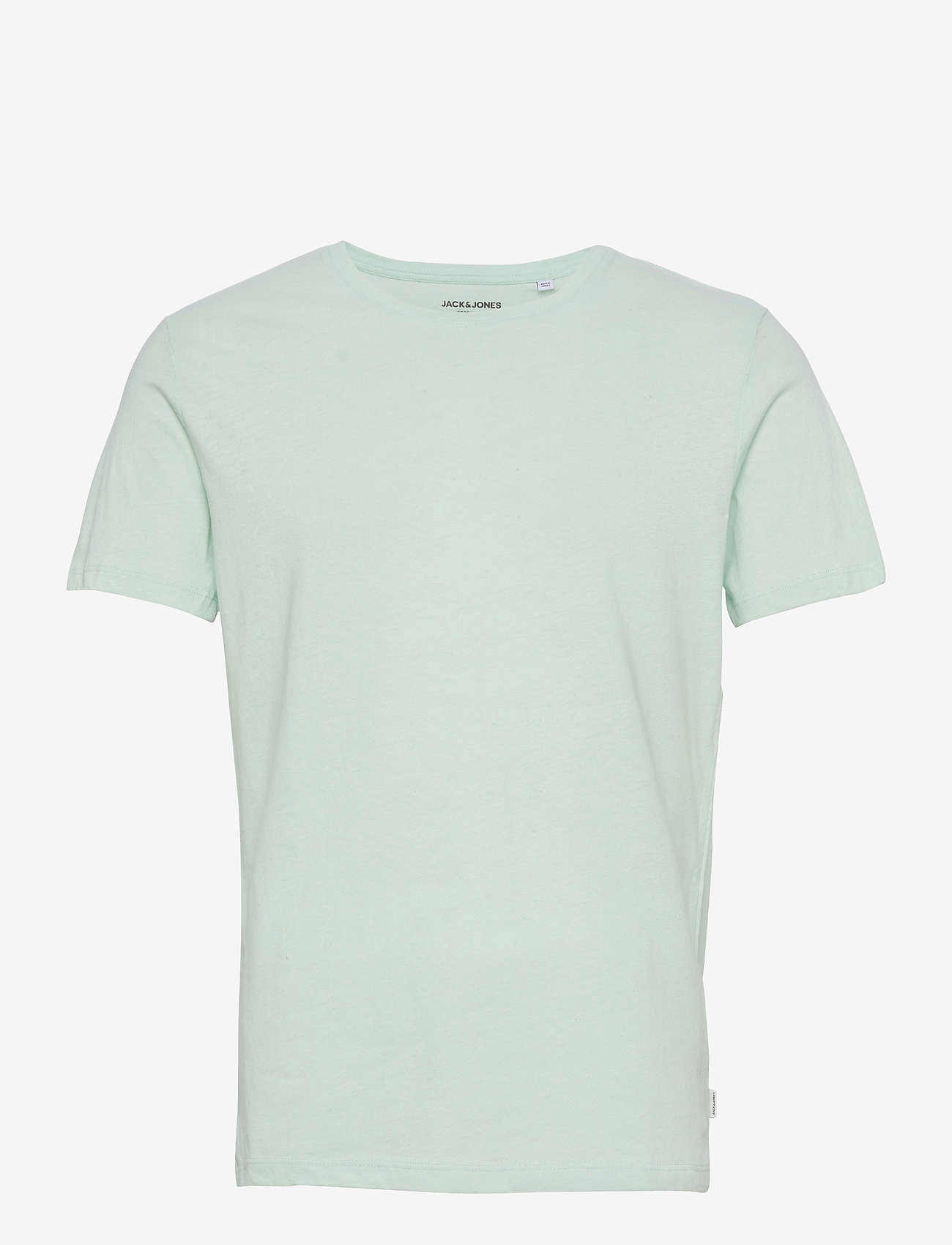 Jack & Jones - JJELINEN BASIC TEE SS CREW NECK STS - basic t-shirts - bleached aqua - 0