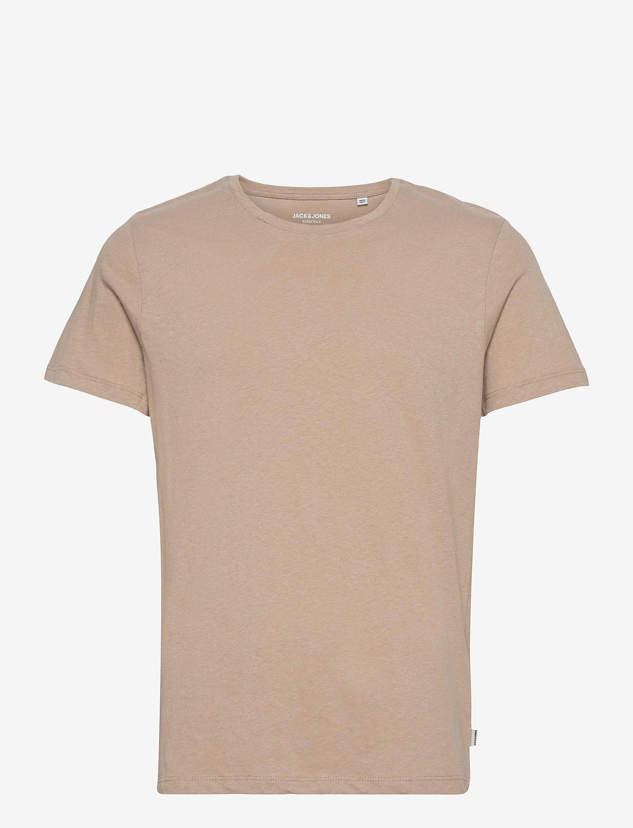 Jack & Jones - JJELINEN BASIC TEE SS CREW NECK STS - basic t-shirts - crockery - 0