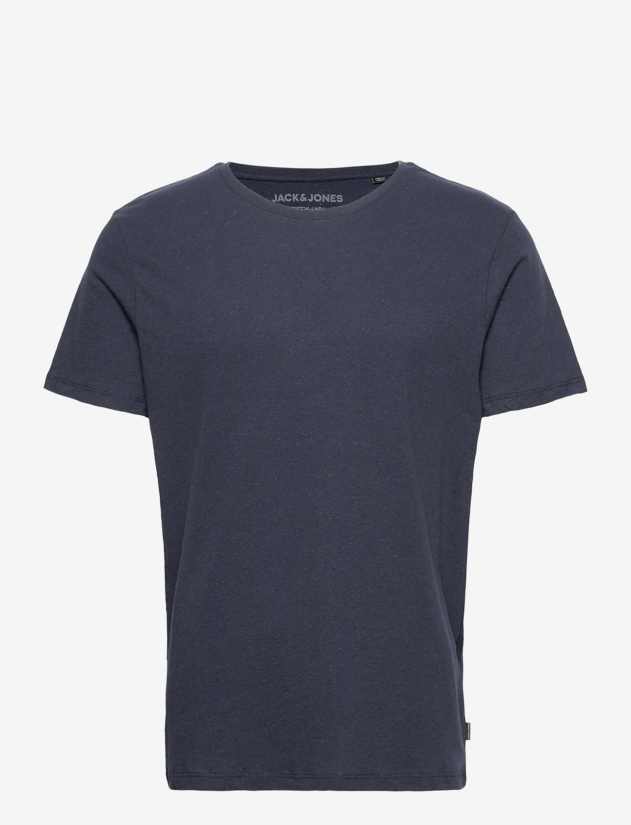 Jack & Jones - JJELINEN BASIC TEE SS CREW NECK STS - basic t-shirts - navy blazer - 0