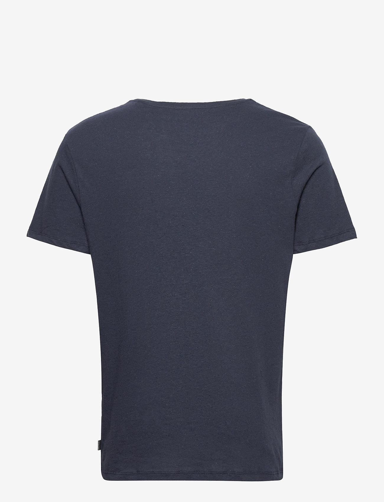 Jack & Jones - JJELINEN BASIC TEE SS CREW NECK STS - basic t-shirts - navy blazer - 1