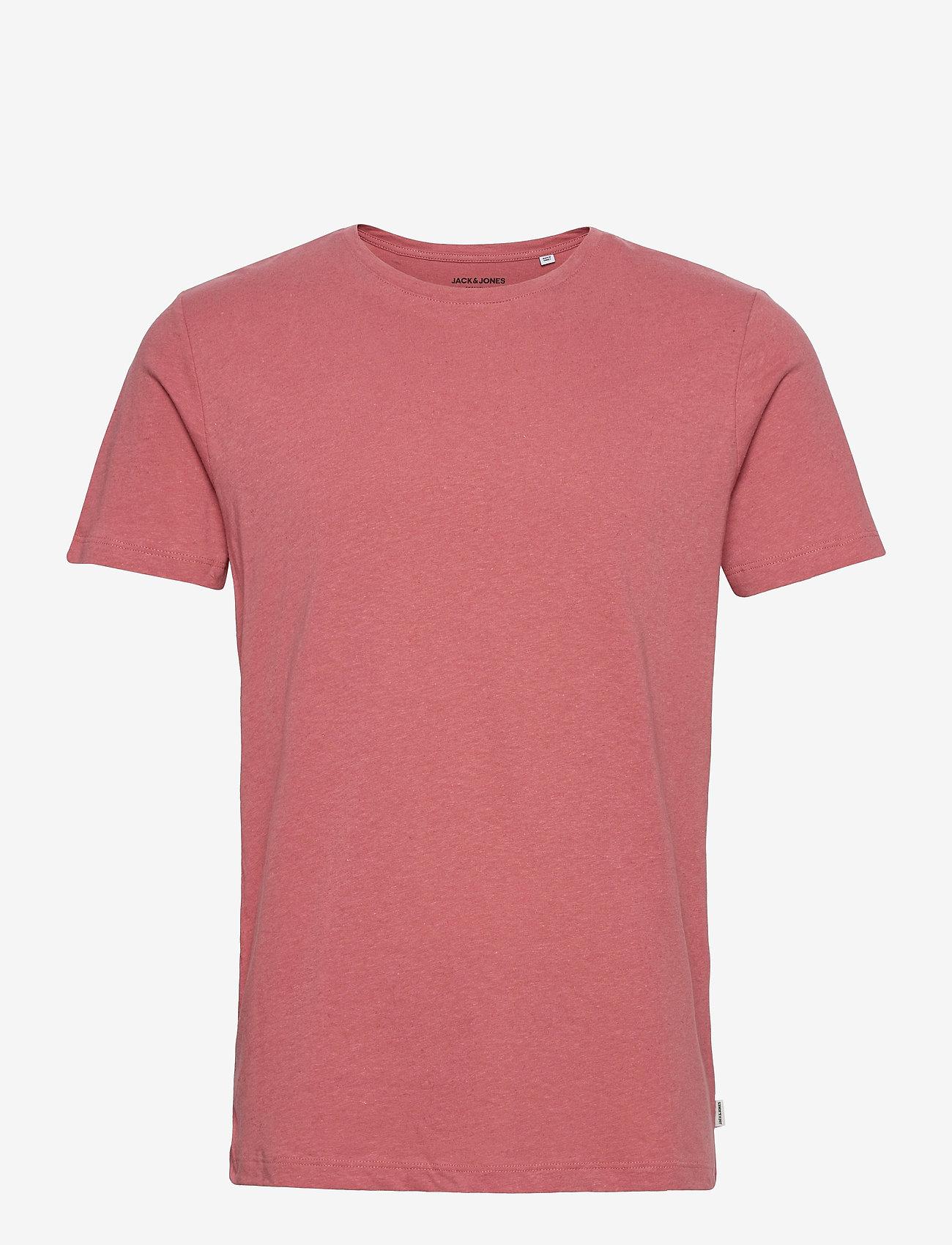 Jack & Jones - JJELINEN BASIC TEE SS CREW NECK STS - basic t-shirts - slate rose - 0