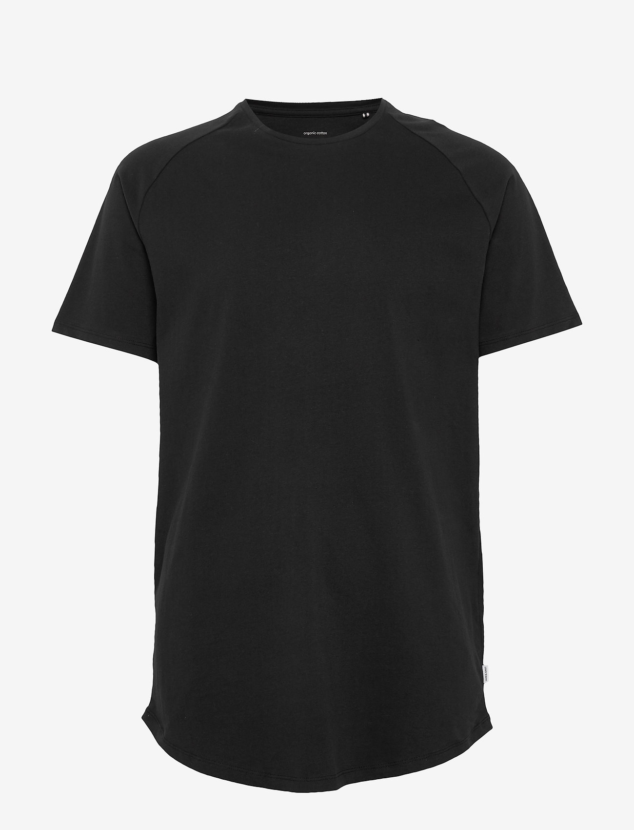 Jack & Jones - JJECURVED TEE SS O-NECK - basic t-shirts - black - 0