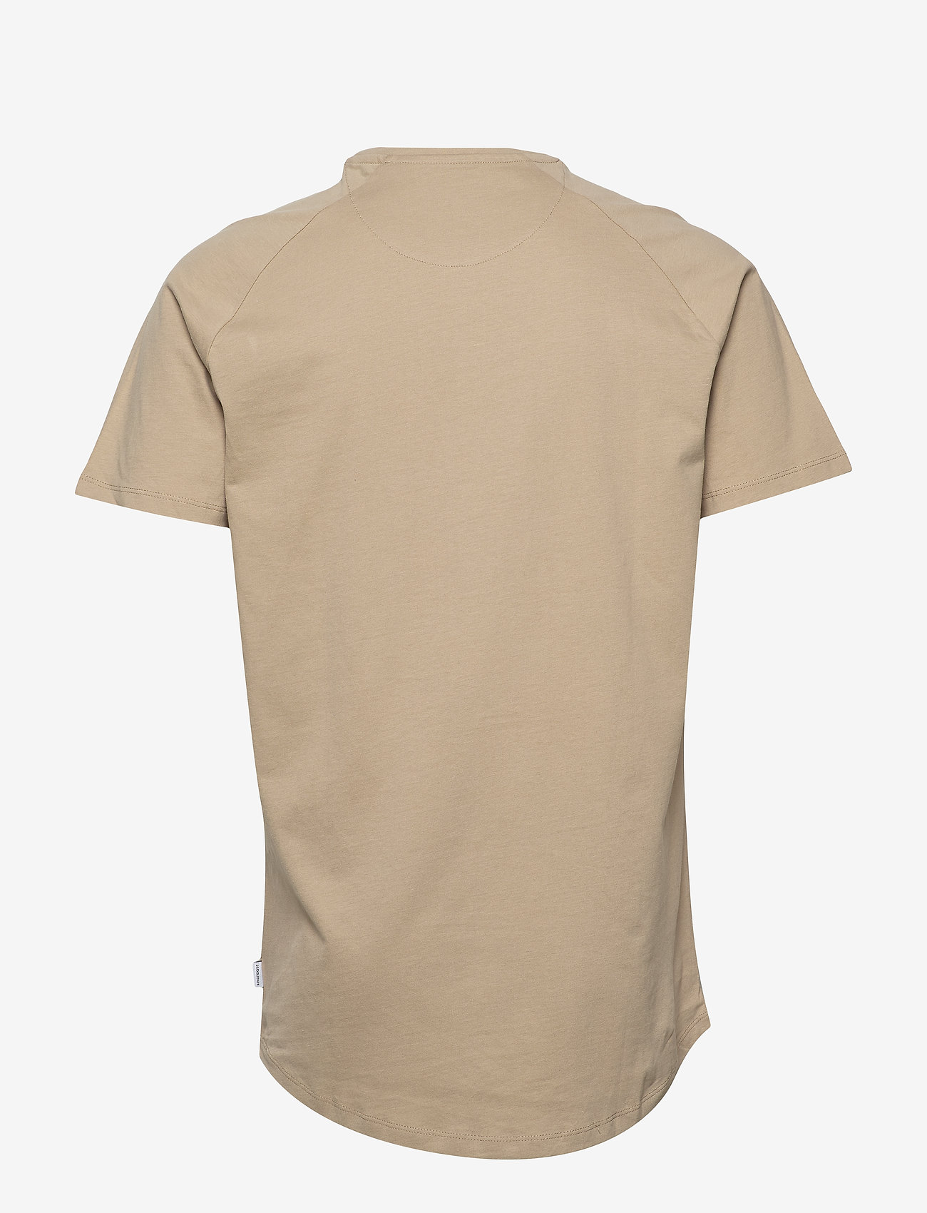 Jack & Jones - JJECURVED TEE SS O-NECK NOOS - basic t-shirts - crockery - 1