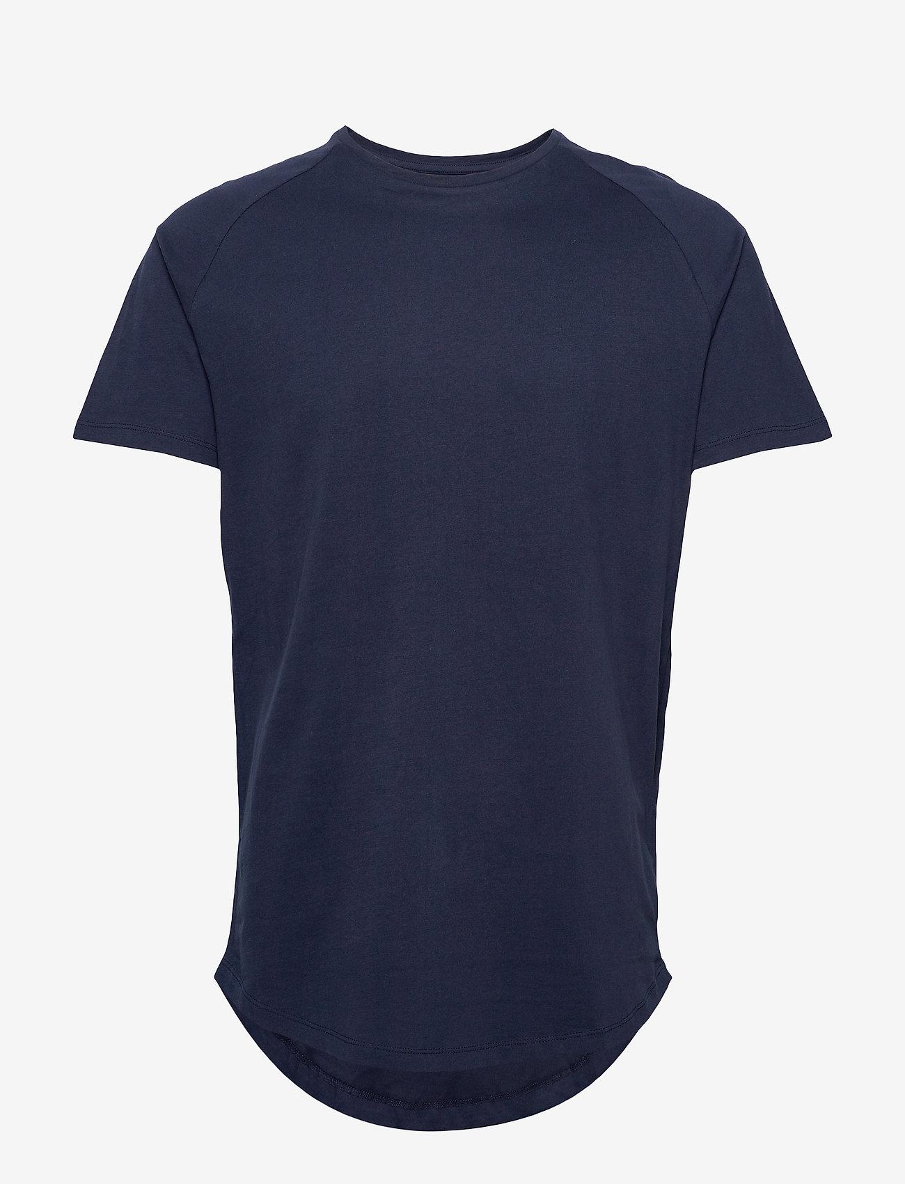 Jack & Jones - JJECURVED TEE SS O-NECK NOOS - basic t-shirts - navy blazer - 0
