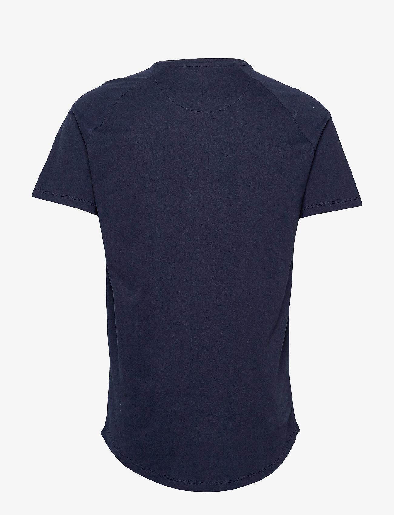 Jack & Jones - JJECURVED TEE SS O-NECK NOOS - basic t-shirts - navy blazer - 1