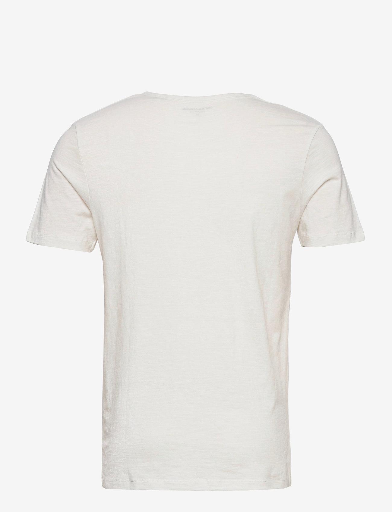 Jack & Jones - JJESPLIT NECK TEE SS - kortärmade t-shirts - cloud dancer - 1