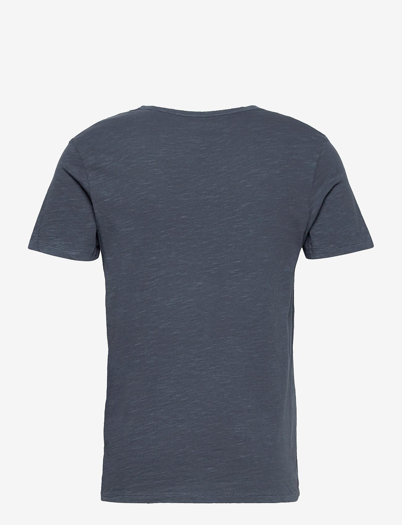 Jack & Jones - JJESPLIT NECK TEE SS - kortärmade t-shirts - navy blazer - 1