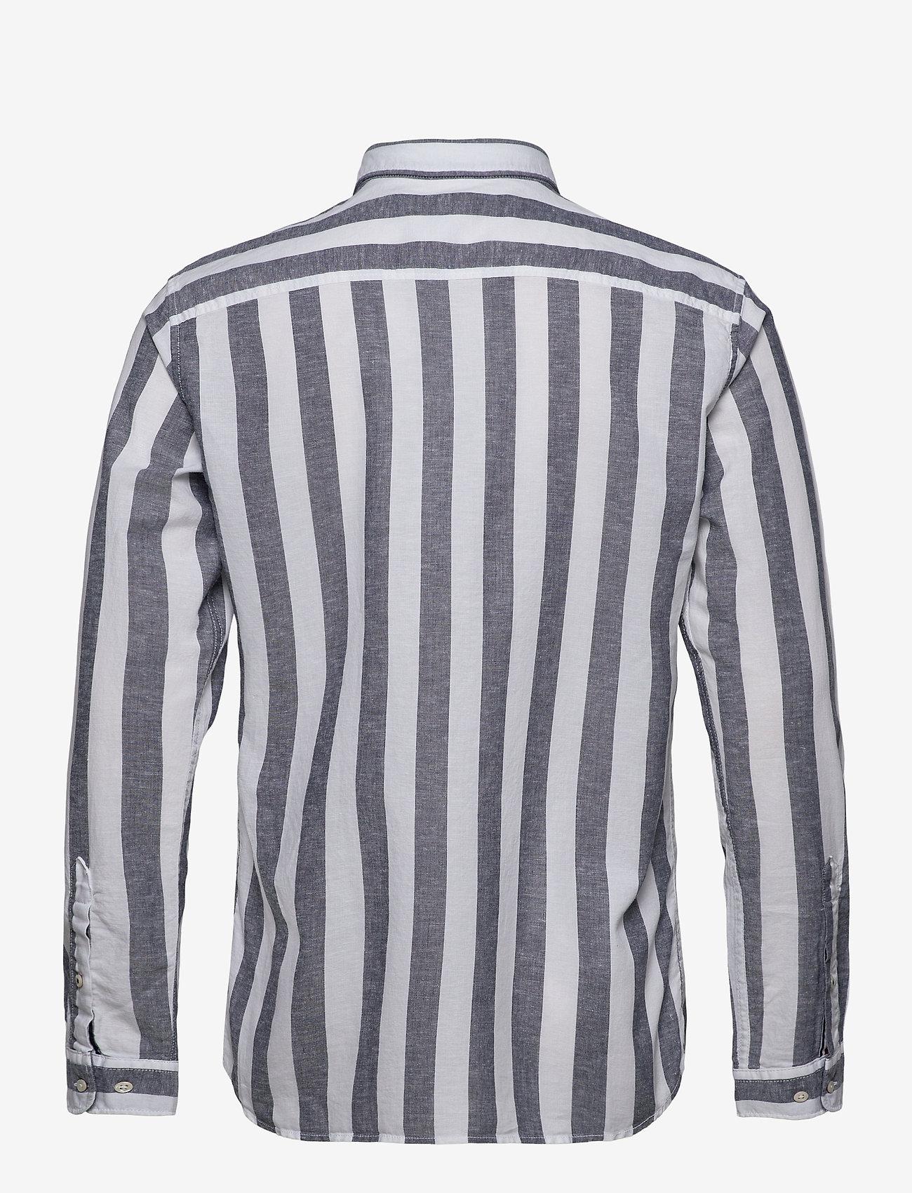 Jack & Jones - JJESUMMER MIX SHIRT L/S S20 STS - casual skjortor - navy blazer - 1
