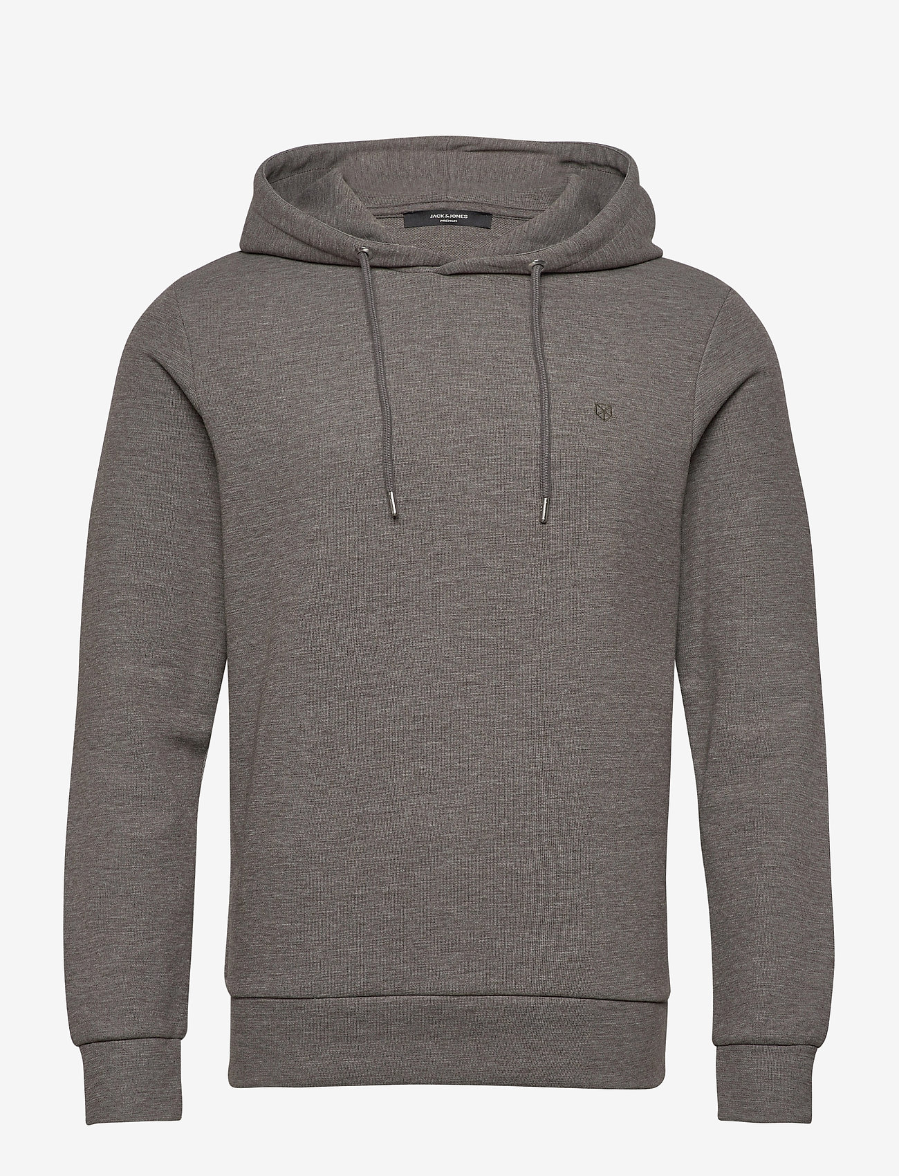 Jack & Jones - JPRBLAHARDY SWEAT HOOD PRE STS - basic sweatshirts - grey melange - 0