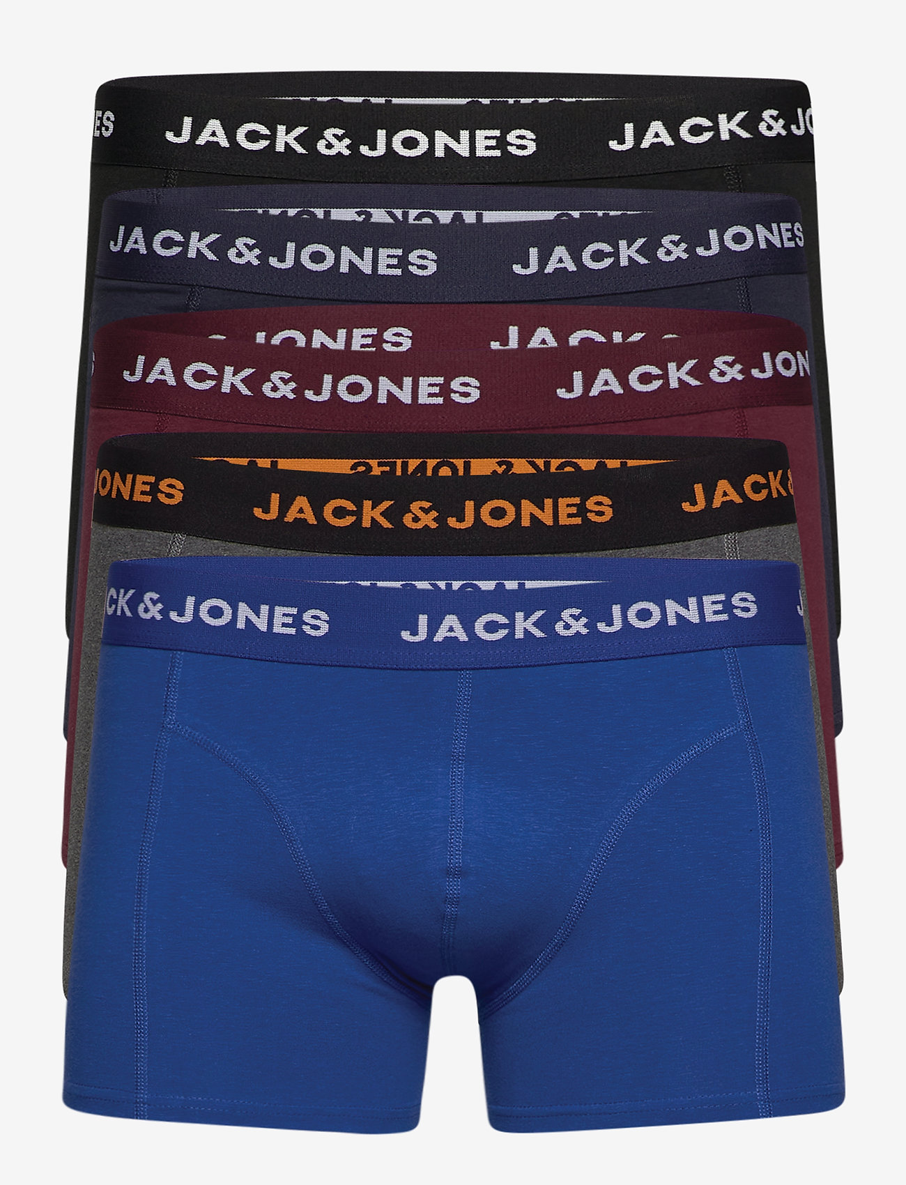 Jack & Jones - JACBLACK FRIDAY TRUNKS 5 PACK LTN - bokserki - black - 0