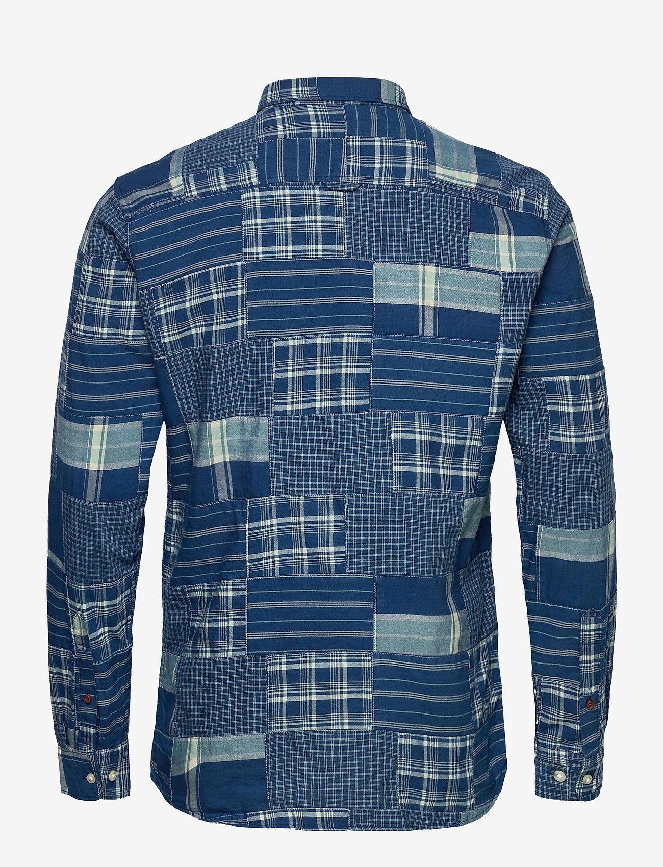 Jack & Jones - JPRBLUPATCH SHIRT L/S WORKER - rutiga skjortor - faded blue - 1