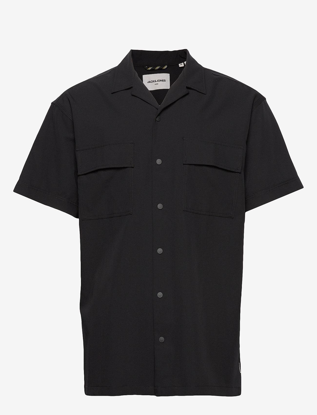 Jack & Jones - JCOMONO SHIRT SS WORKER - basic skjorter - black - 0