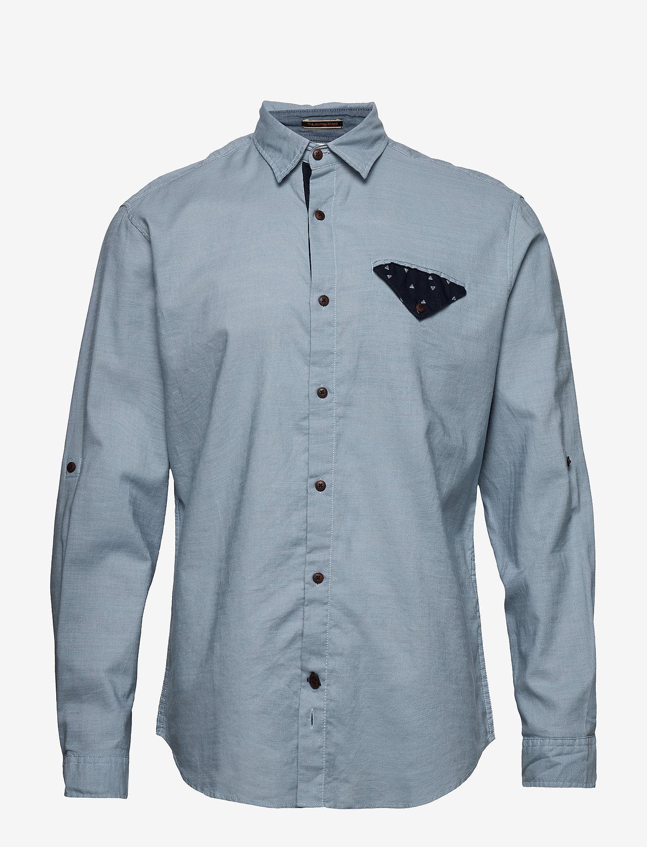 Jack & Jones - JORCHANDLER SHIRT LS - basic skjortor - ashley blue - 0