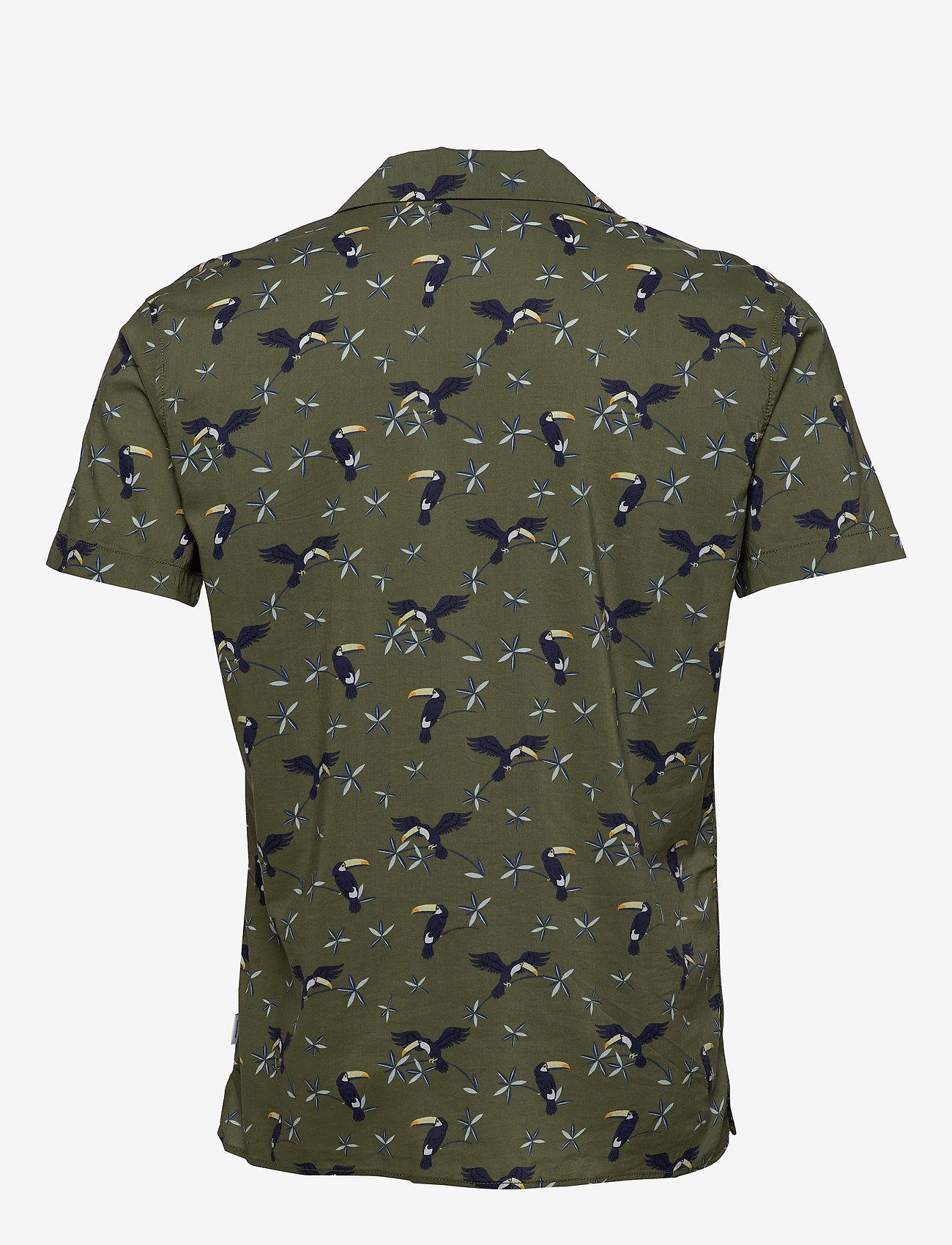 Jack & Jones - JORLUCAS AOP SHIRT SS SH - kortärmade skjortor - dusty olive - 1