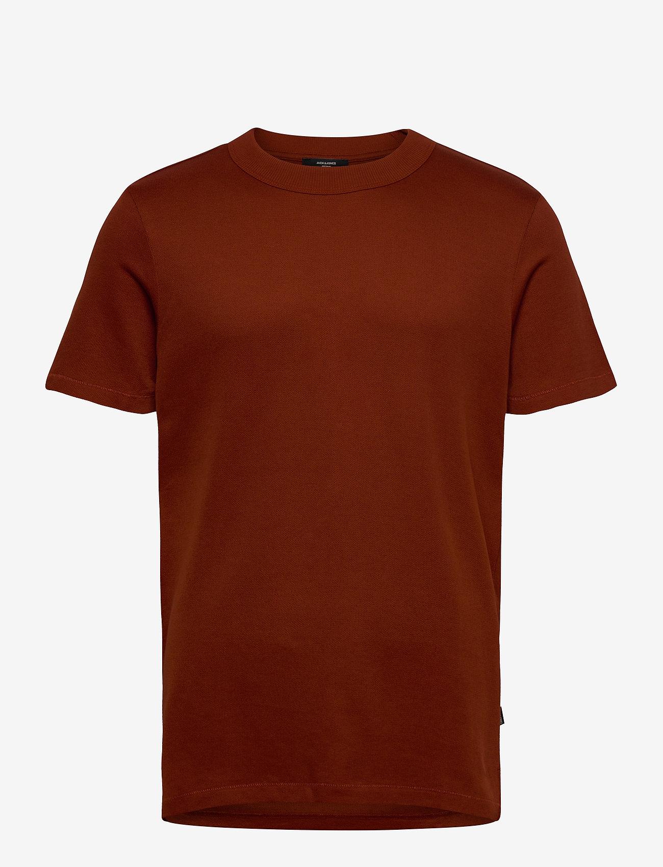 Jack & Jones - JPRRUSHTON BLA. TEE SS CREW NECK - kortärmade t-shirts - dark salamander - 0