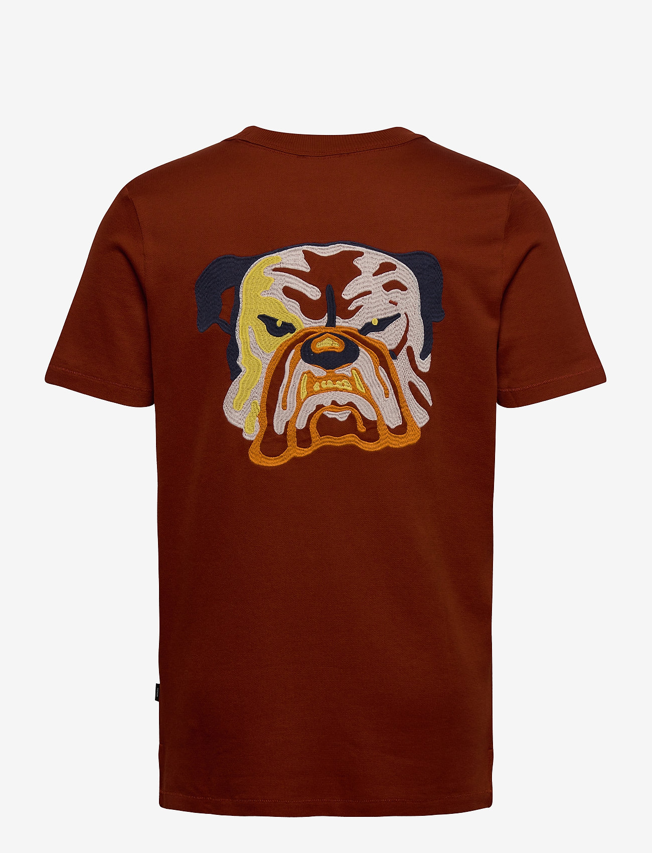 Jack & Jones - JPRRUSHTON BLA. TEE SS CREW NECK - kortärmade t-shirts - dark salamander - 1