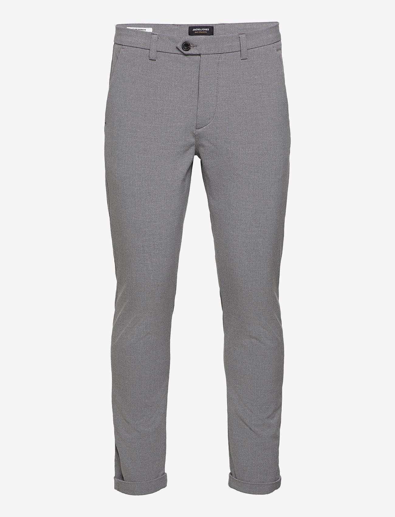 Jack & Jones - JJIMARCO JJCONNOR AKM 909 GREY MEL NOOS - pantalons habillés - grey melange - 0