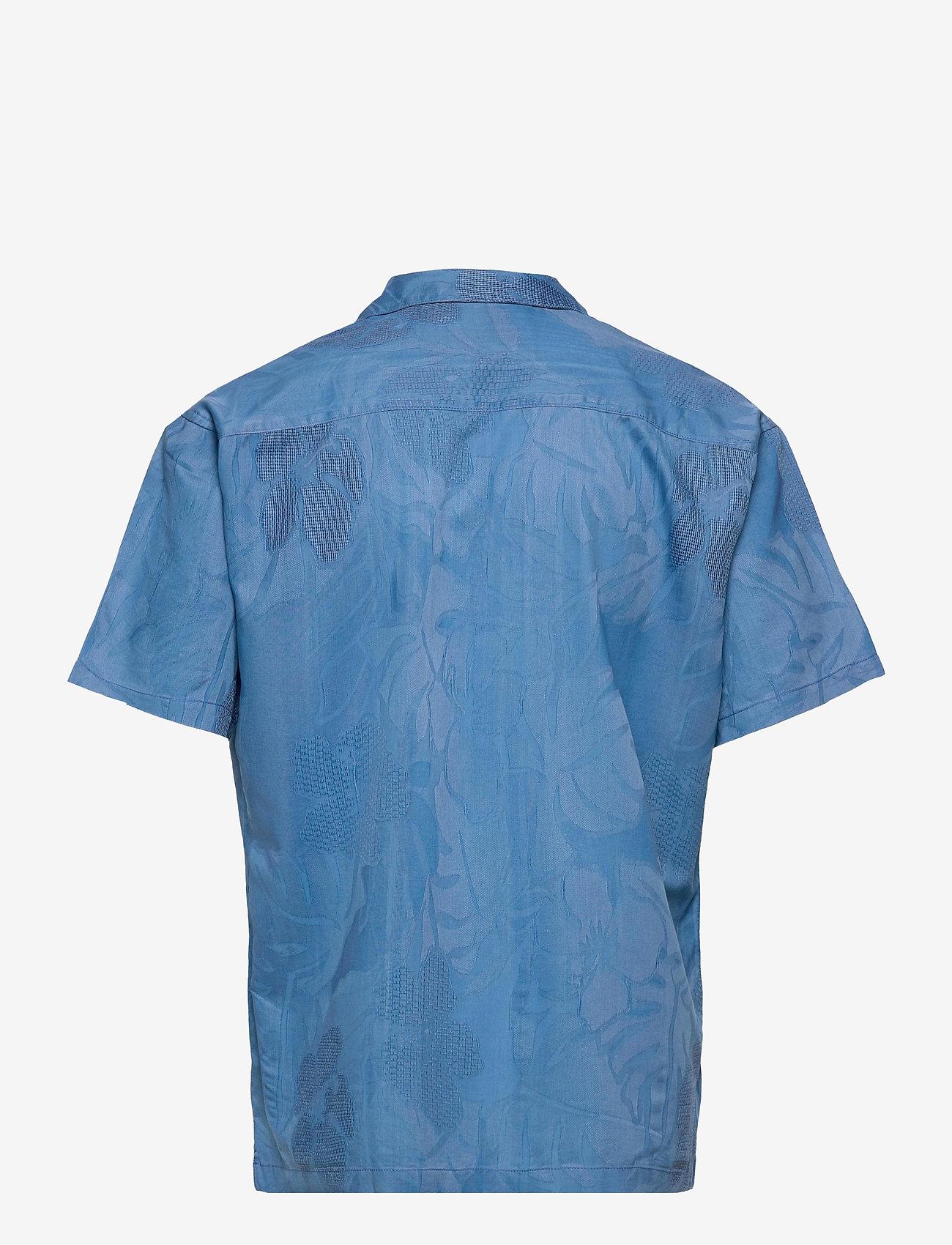 Jack & Jones - JPRBLUCOOPER RESORT SHIRT S/S RELAX - rutiga skjortor - denim blue - 1