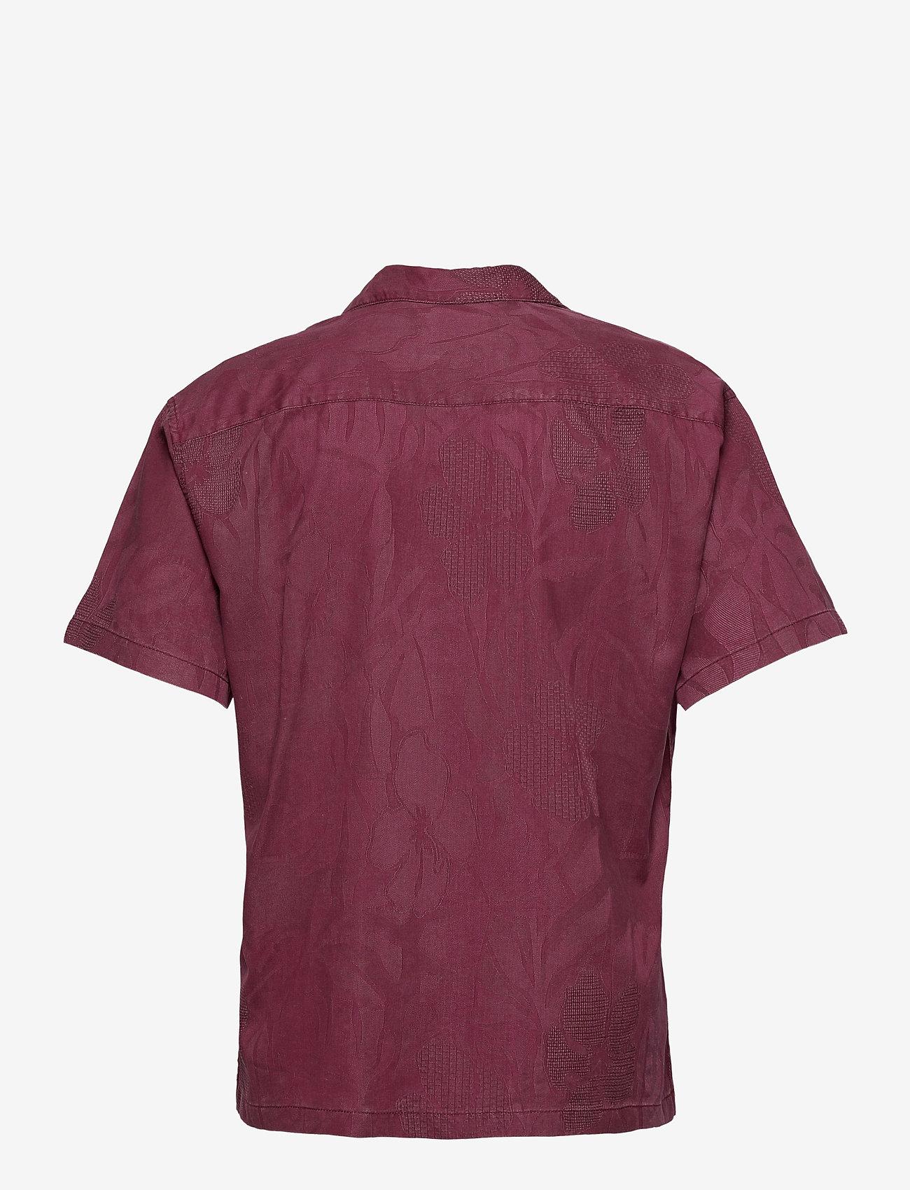 Jack & Jones - JPRBLUCOOPER RESORT SHIRT S/S RELAX - linneskjortor - zinfandel - 1