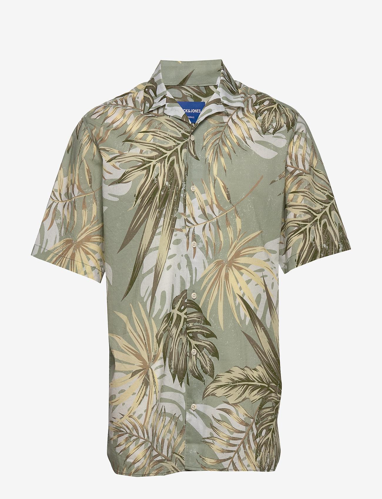 Jack & Jones - JORMARTY ORGANIC SHIRT SS - kortermede skjorter - green milieu - 0