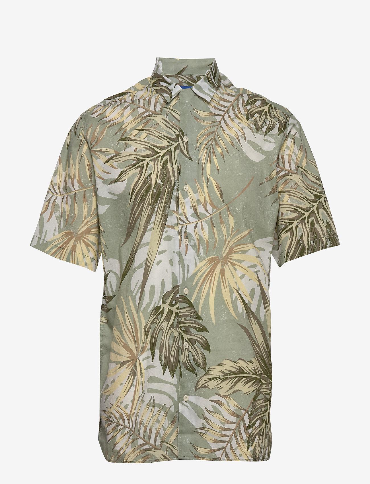 Jack & Jones - JORMARTY ORGANIC SHIRT SS - kortermede skjorter - green milieu - 1