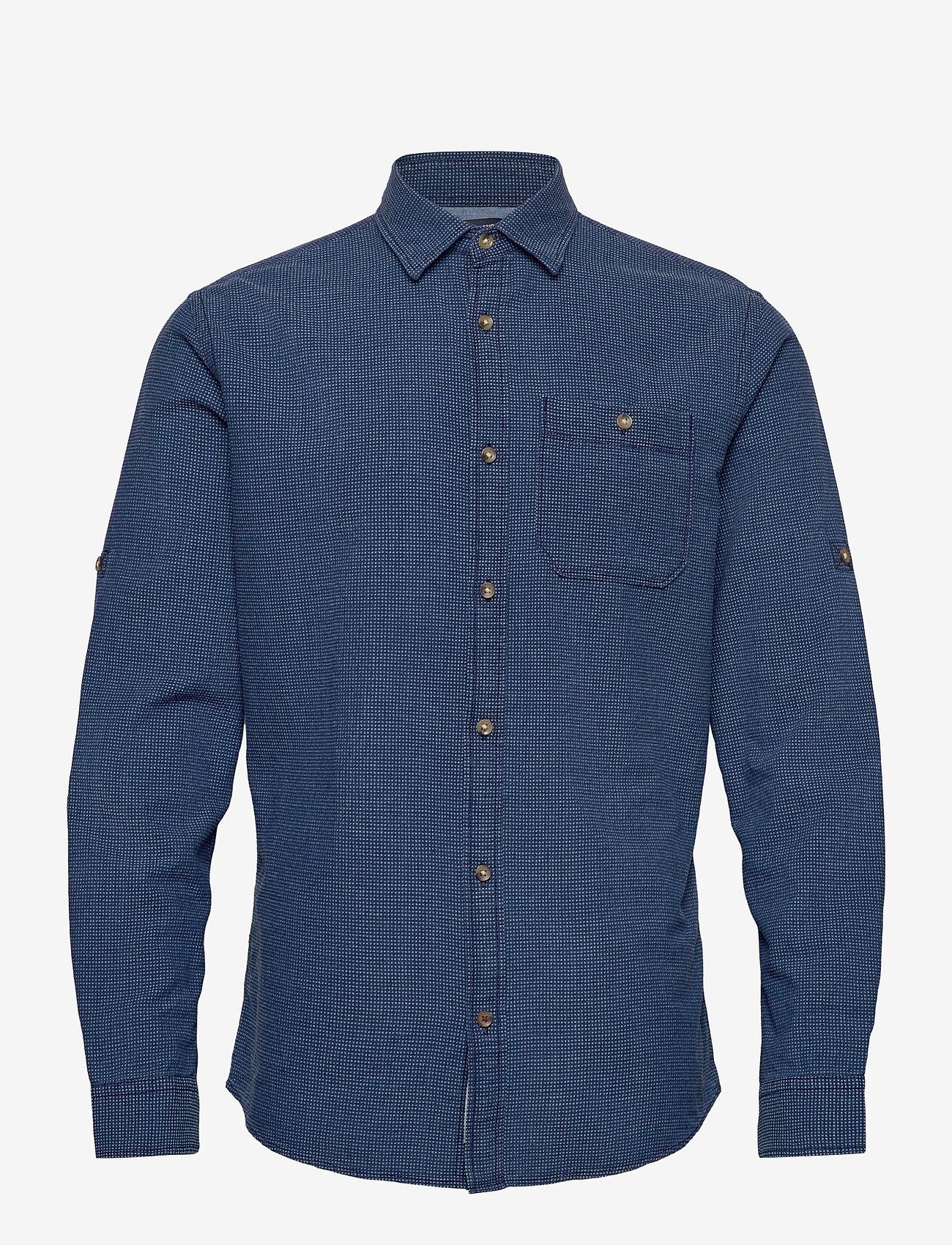 Jack & Jones - JPRBLUEASTON SHIRT L/S ONE POCKET - casual skjortor - denim blue - 0