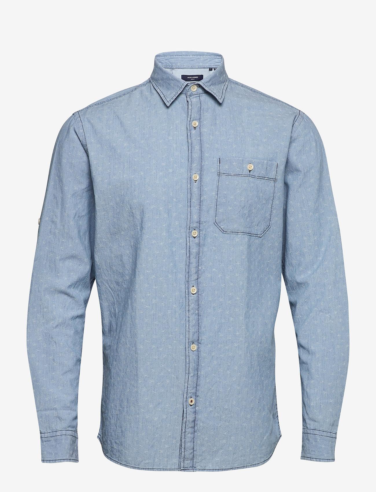 Jack & Jones - JPRBLUEASTON SHIRT L/S ONE POCKET - casual skjortor - soul blue - 0