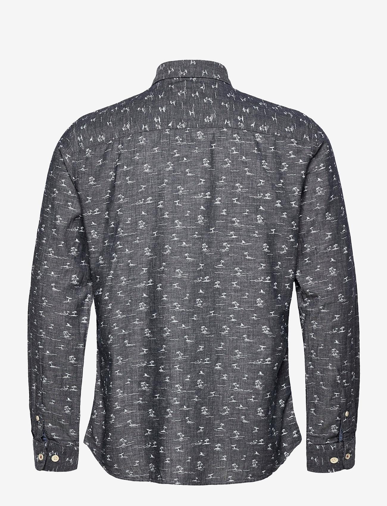 Jack & Jones - JORDAN SHIRT LS - linneskjortor - navy blazer - 1