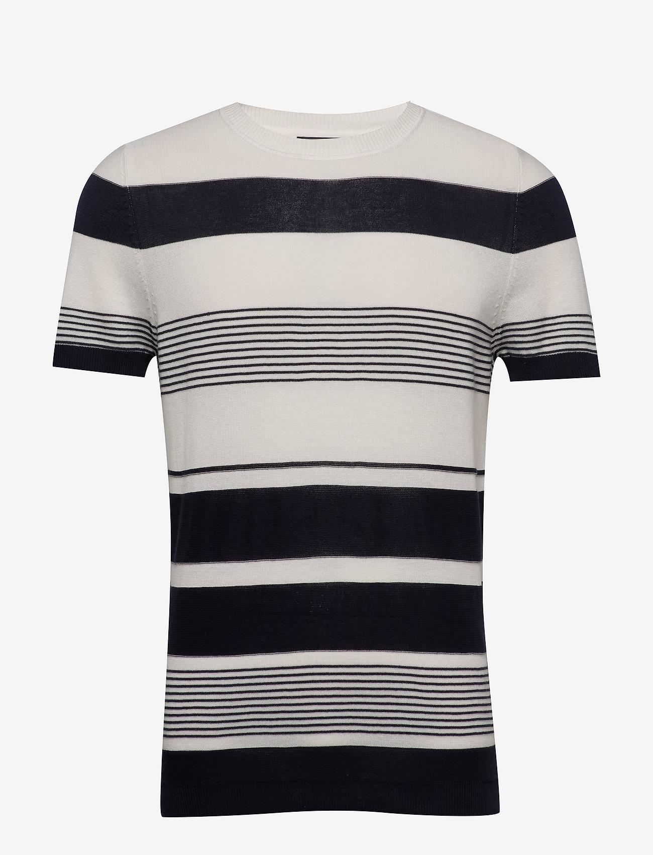 Jack & Jones - JPRBLALOST SS CREW NECK - kortärmade t-shirts - maritime blue - 0