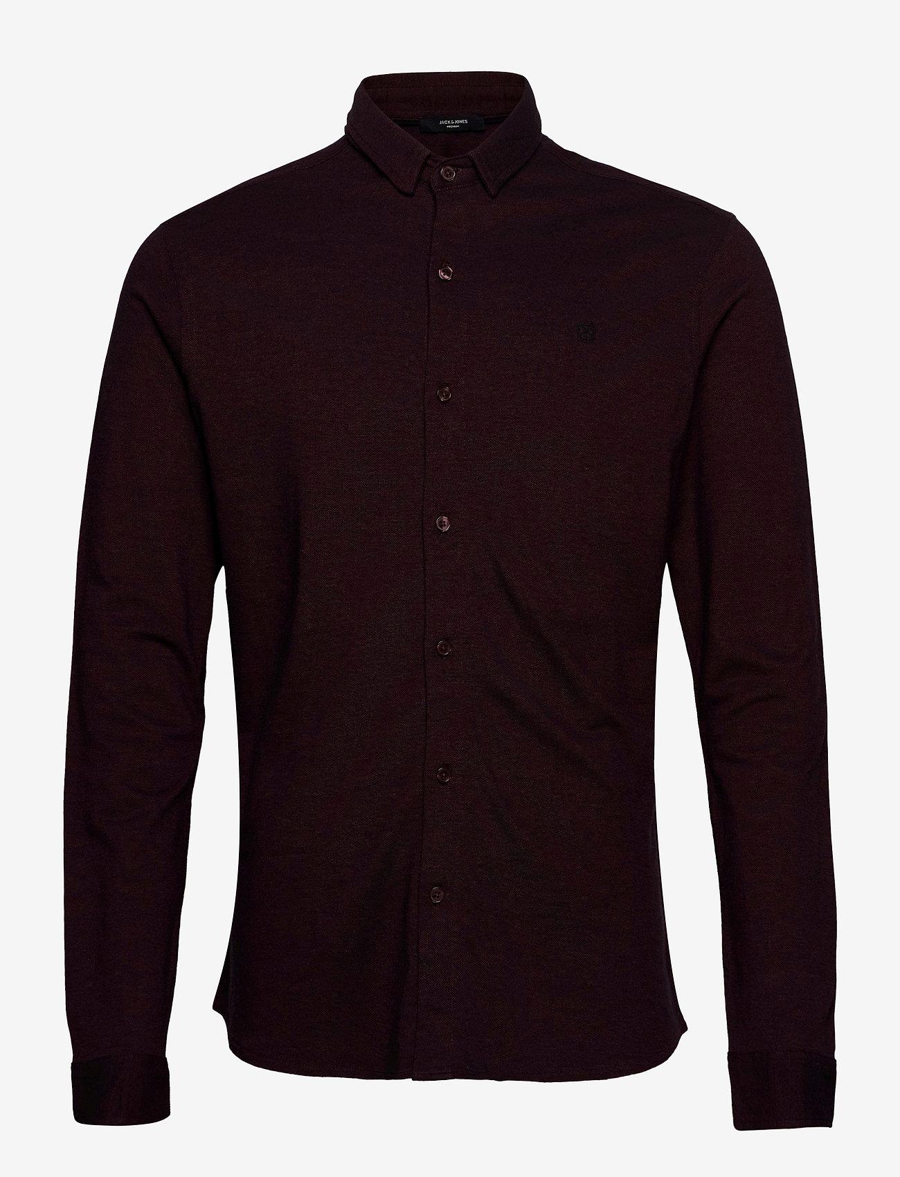Jack & Jones - JPRBLAJACE LS JERSEY SHIRT - basic skjorter - vineyard wine - 0