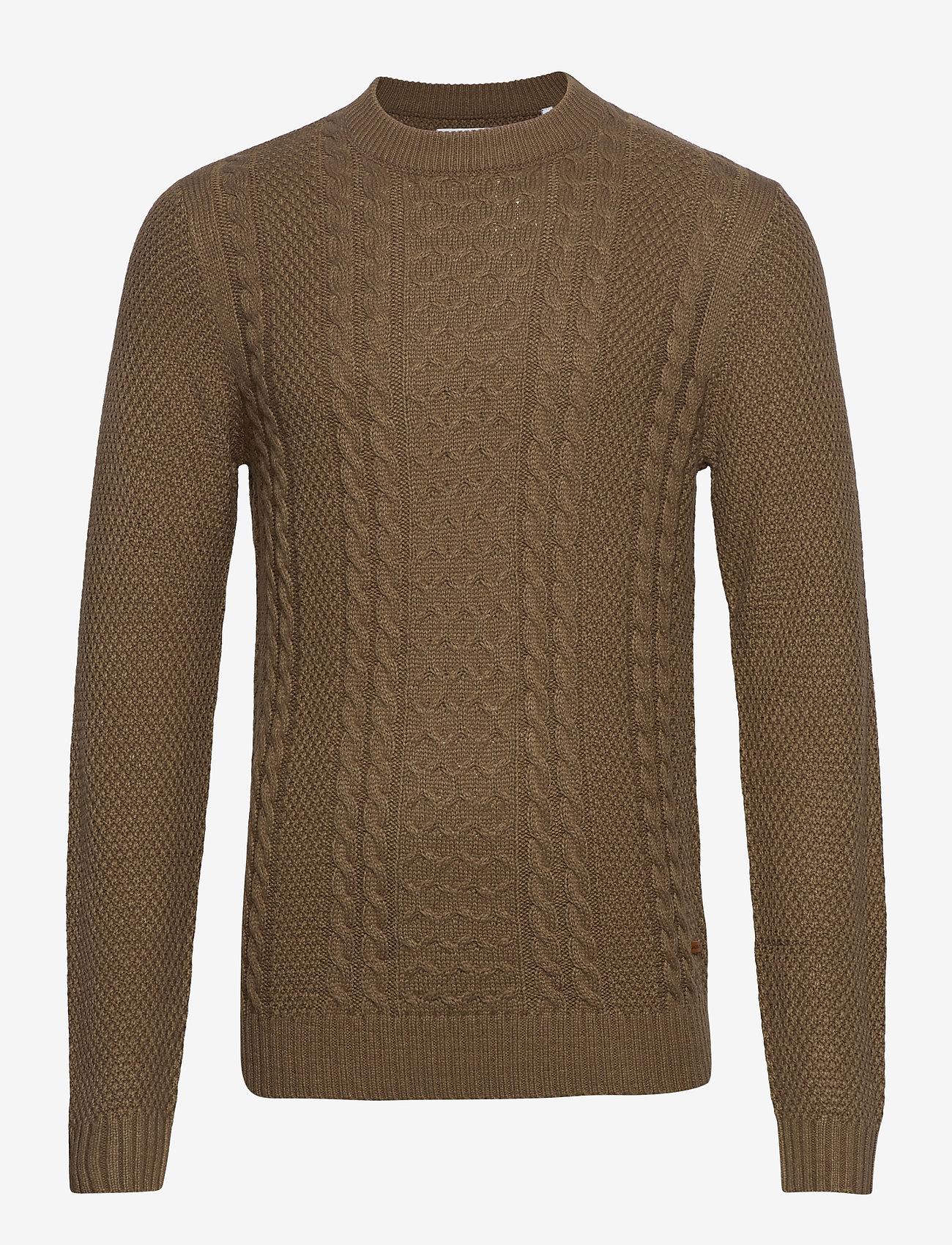 Jack & Jones - JJKIM KNIT CREW NECK - tricots basiques - sepia tint - 0