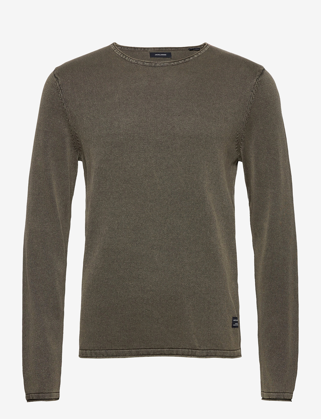 Jack & Jones - JJELEO KNIT CREW NECK NOOS - tricots basiques - dusty olive - 0