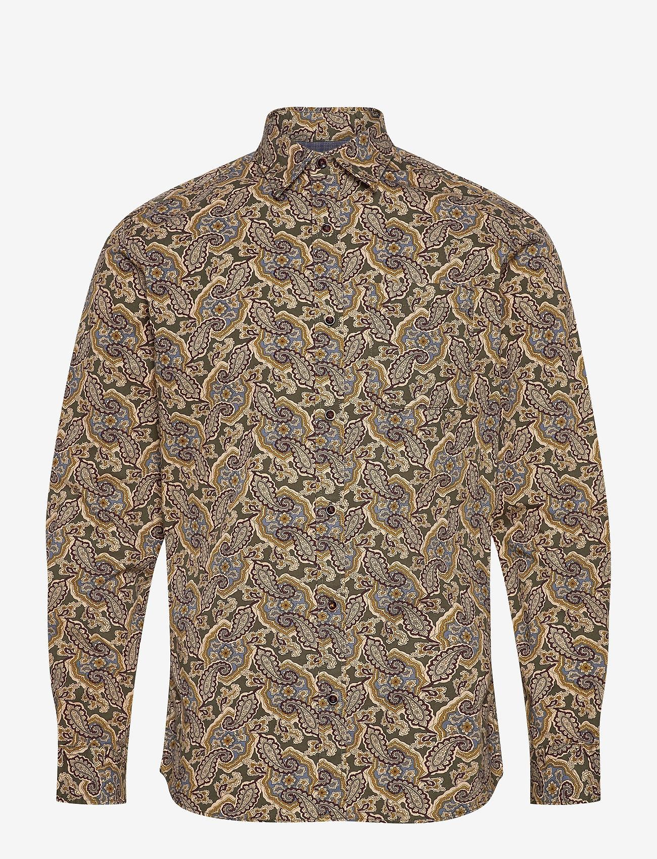 Jack & Jones - JPRBLUCORBIN PRINT SHIRT L/S ONE POCKET - casual skjortor - forest night - 0