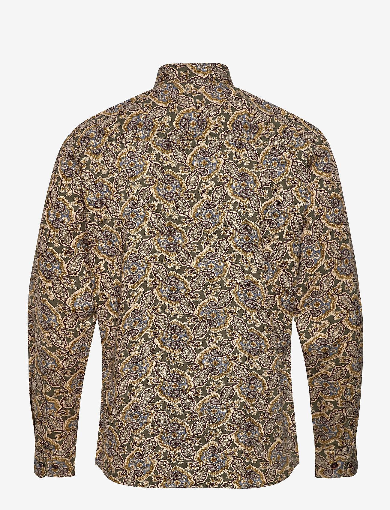 Jack & Jones - JPRBLUCORBIN PRINT SHIRT L/S ONE POCKET - casual skjortor - forest night - 1