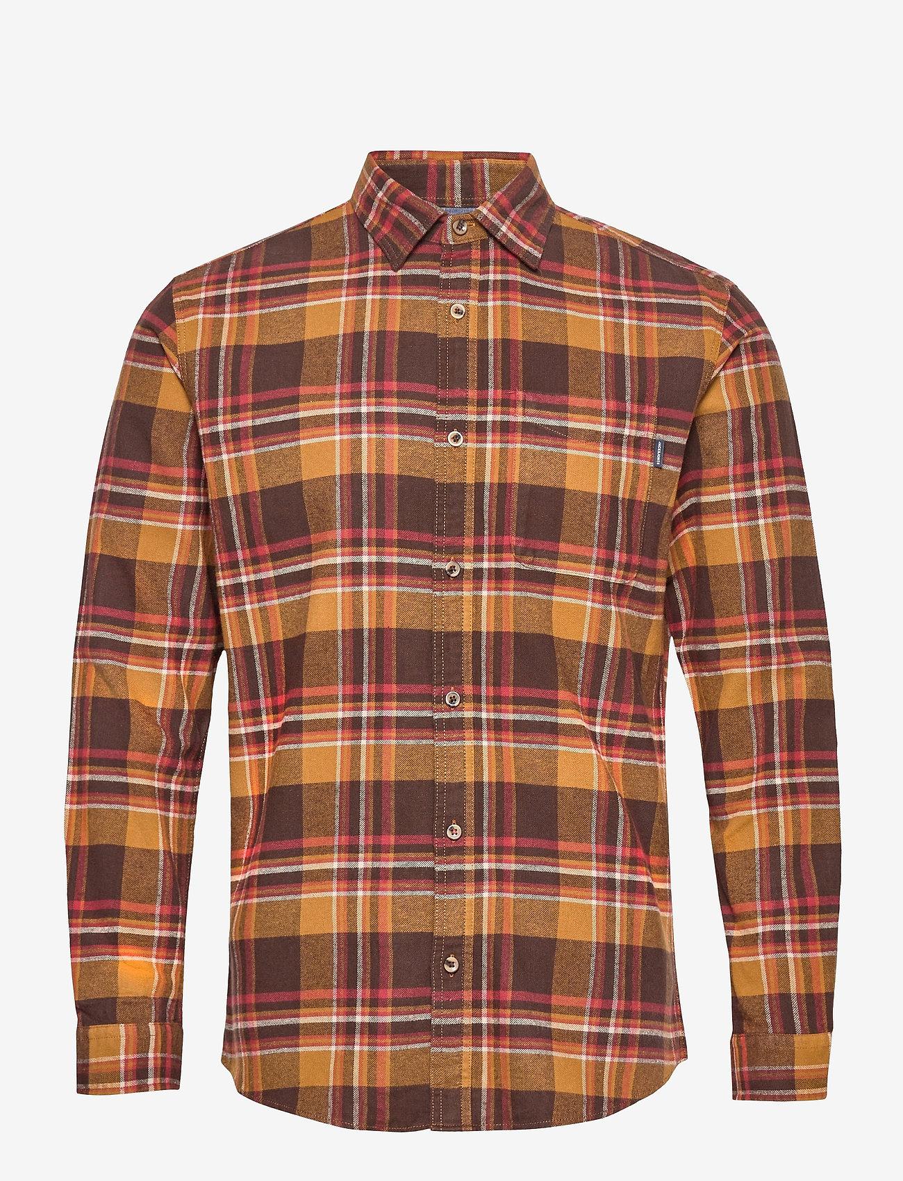 Jack & Jones - JPRBLUJAMIE SHIRT L/S ONE POCKET - rutiga skjortor - cumin - 0
