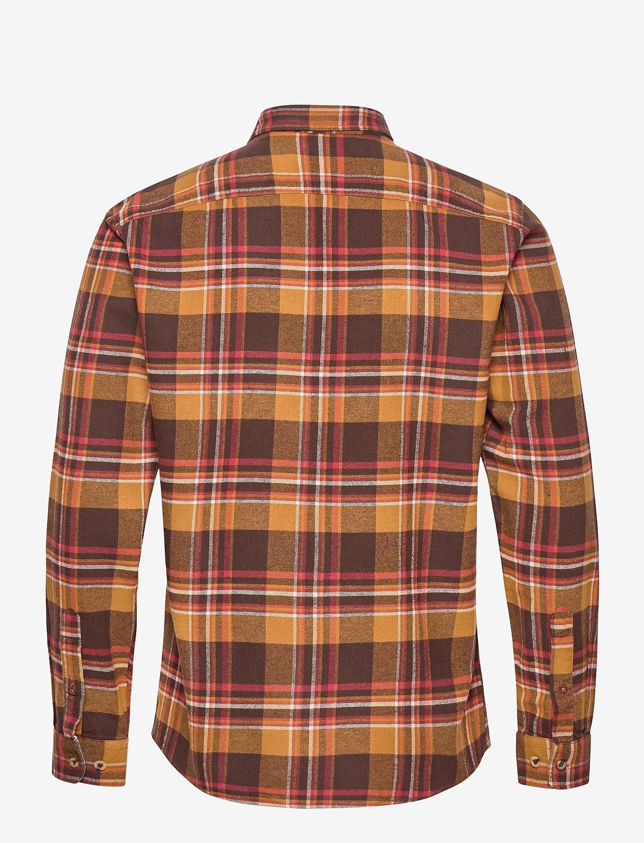 Jack & Jones - JPRBLUJAMIE SHIRT L/S ONE POCKET - rutiga skjortor - cumin - 1