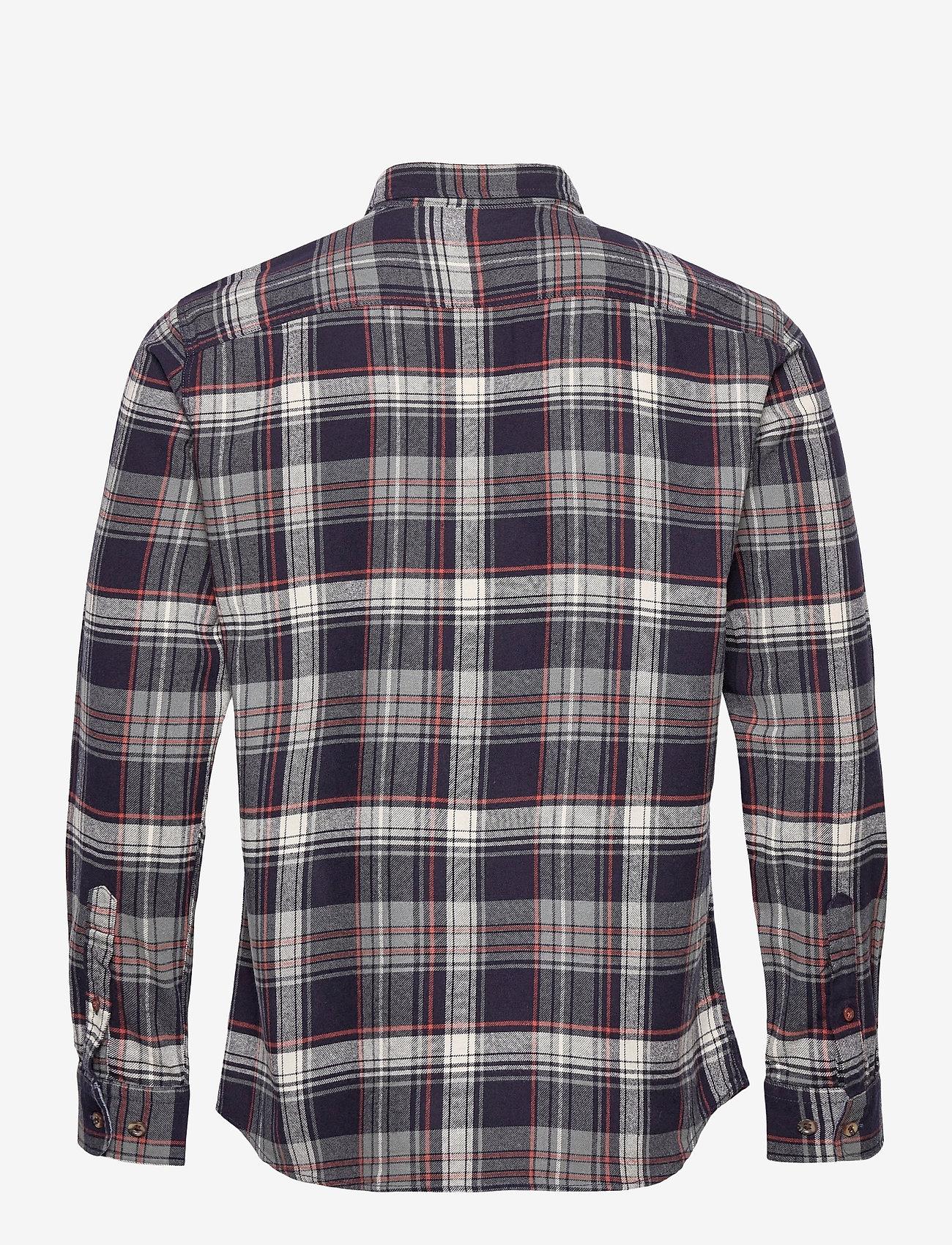 Jack & Jones - JPRBLUJAMIE SHIRT L/S ONE POCKET - rutiga skjortor - navy blazer - 1