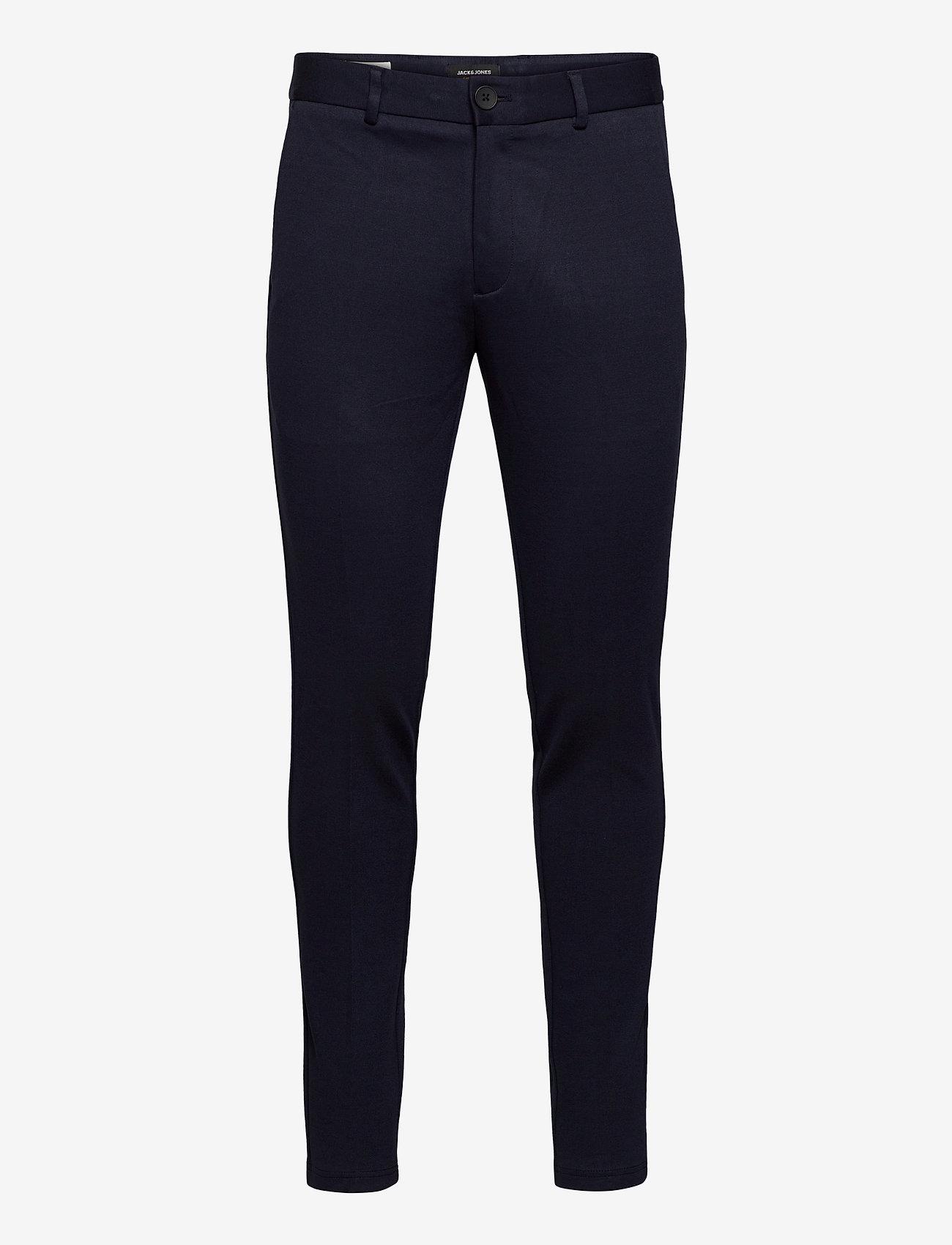 Jack & Jones - JJIMARCO JJPHIL JERSEY NOR DRK NAVY - pantalons habillés - dark navy - 0