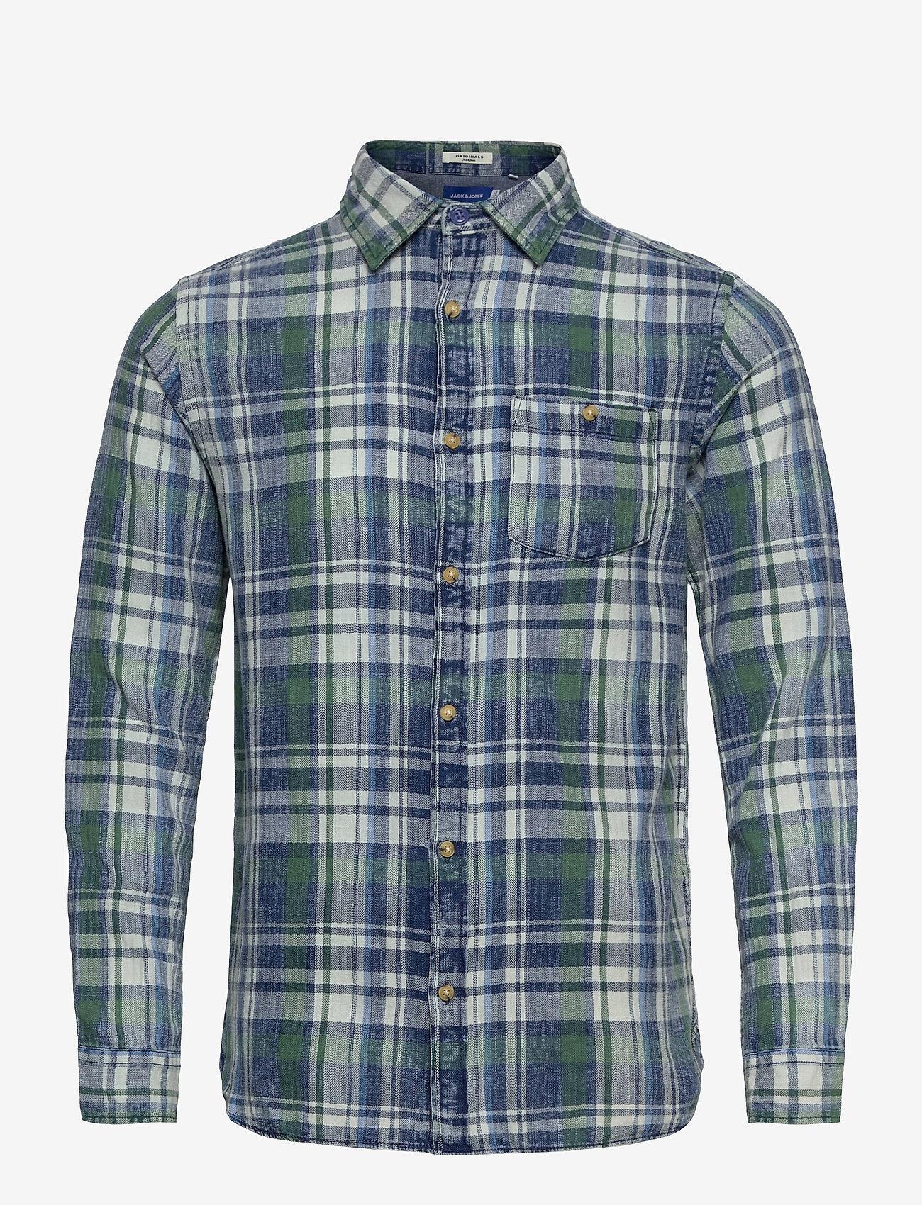 Jack & Jones - JORHANS SHIRT LS - rutiga skjortor - trekking green - 0