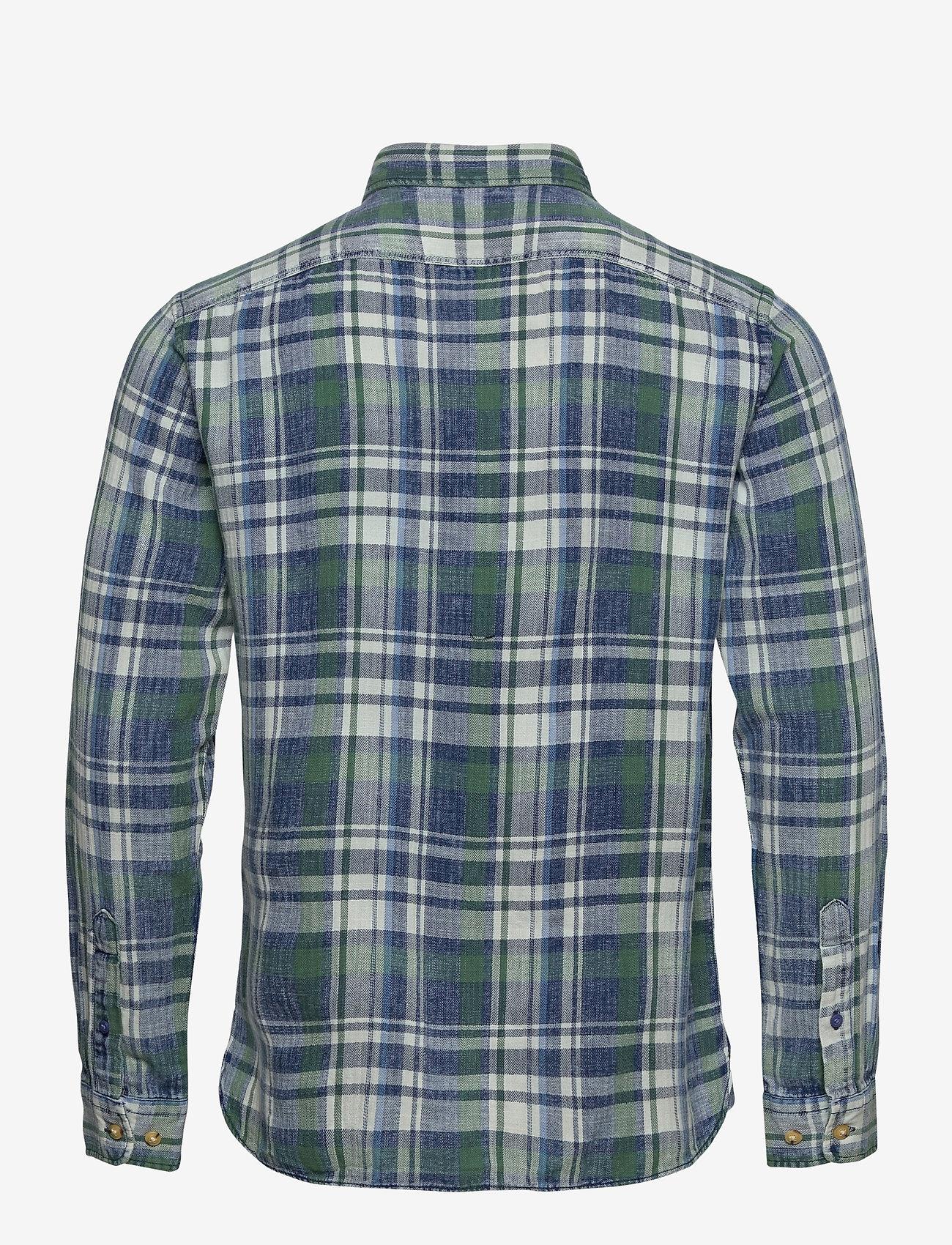 Jack & Jones - JORHANS SHIRT LS - rutiga skjortor - trekking green - 1