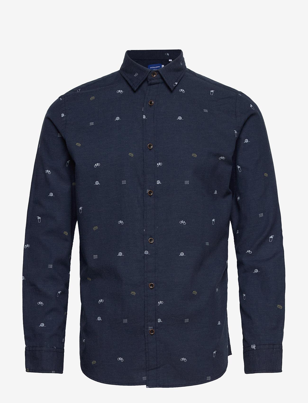 Jack & Jones - JORFUEL SHIRT LS - casual skjortor - navy blazer - 0