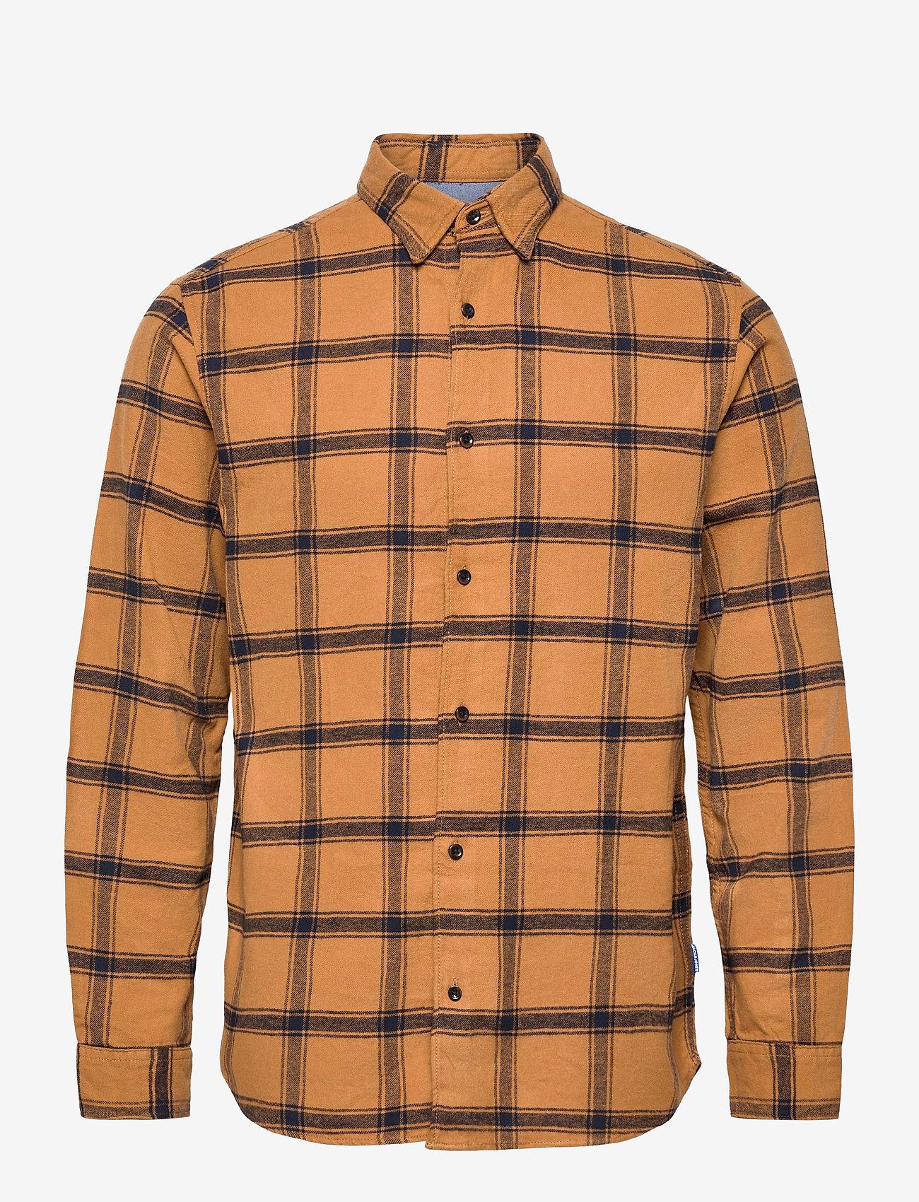 Jack & Jones - JORJAN SHIRT LS - rutiga skjortor - rubber - 0