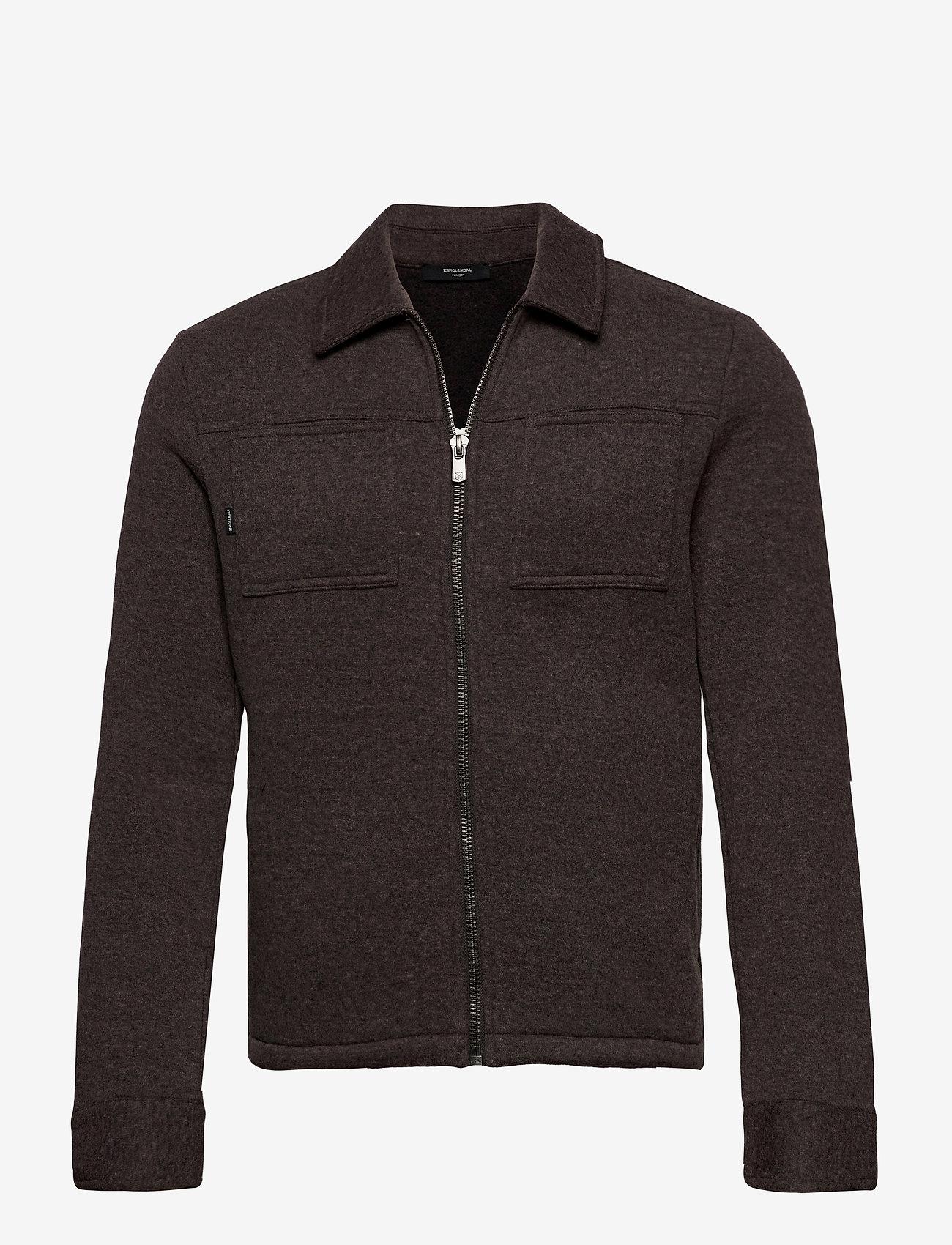 Jack & Jones - JPRBLADAWN SWEAT JACKET - basic sweatshirts - grey melange - 0