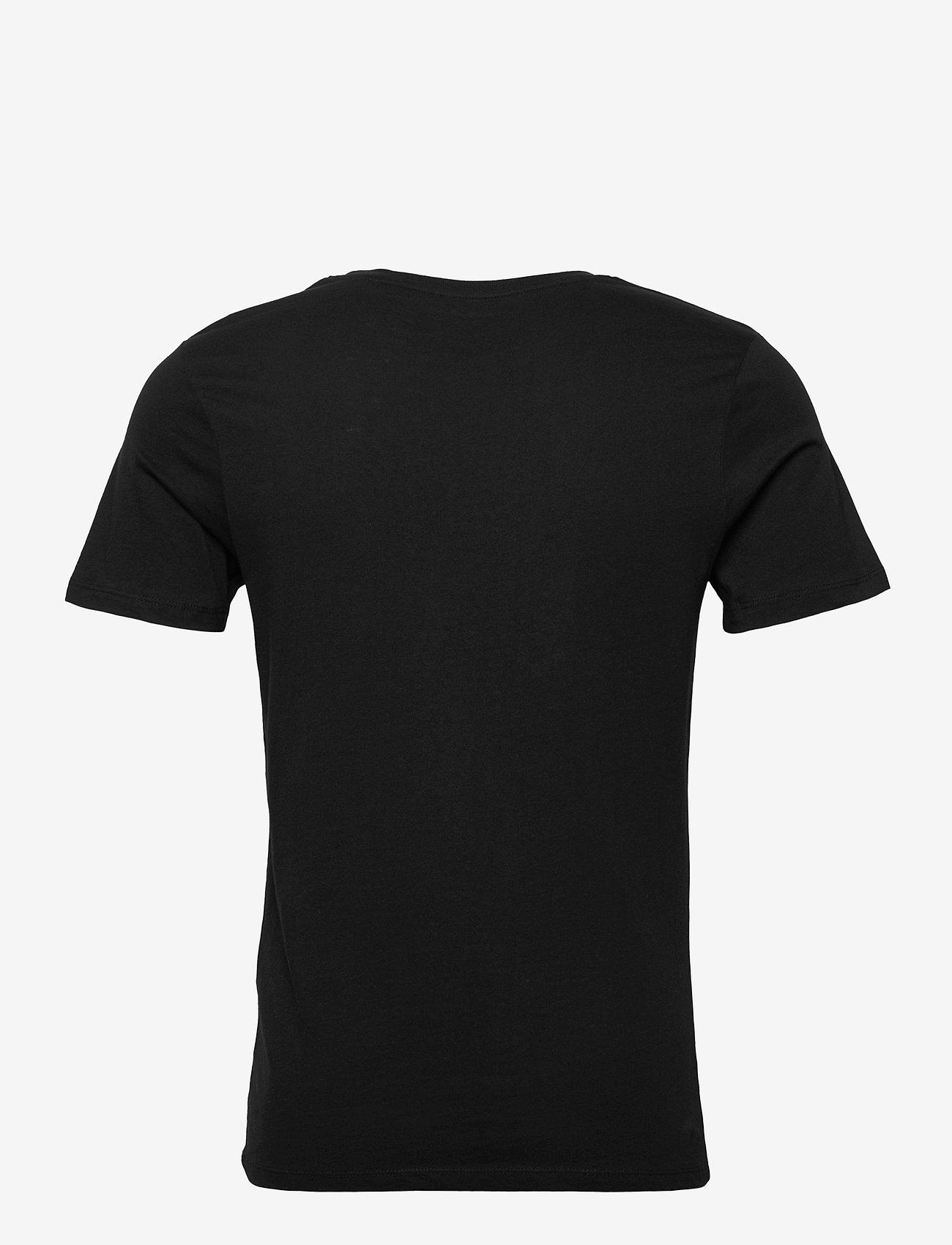 Jack & Jones - JJEJEANS TEE SS CREW NECK  20/21 - kortärmade t-shirts - black - 1