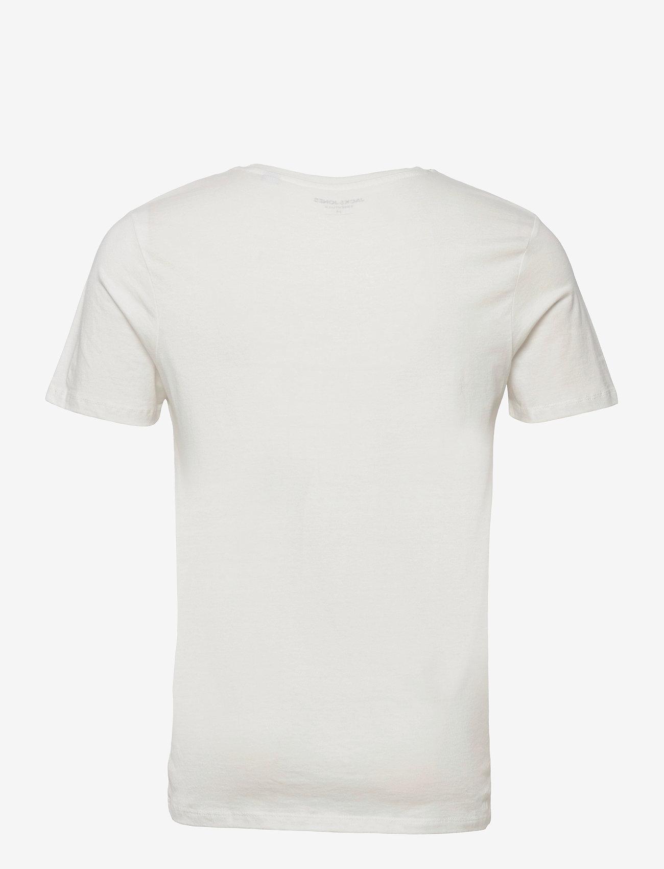 Jack & Jones - JJEJEANS TEE SS CREW NECK  20/21 - kortärmade t-shirts - cloud dancer - 1